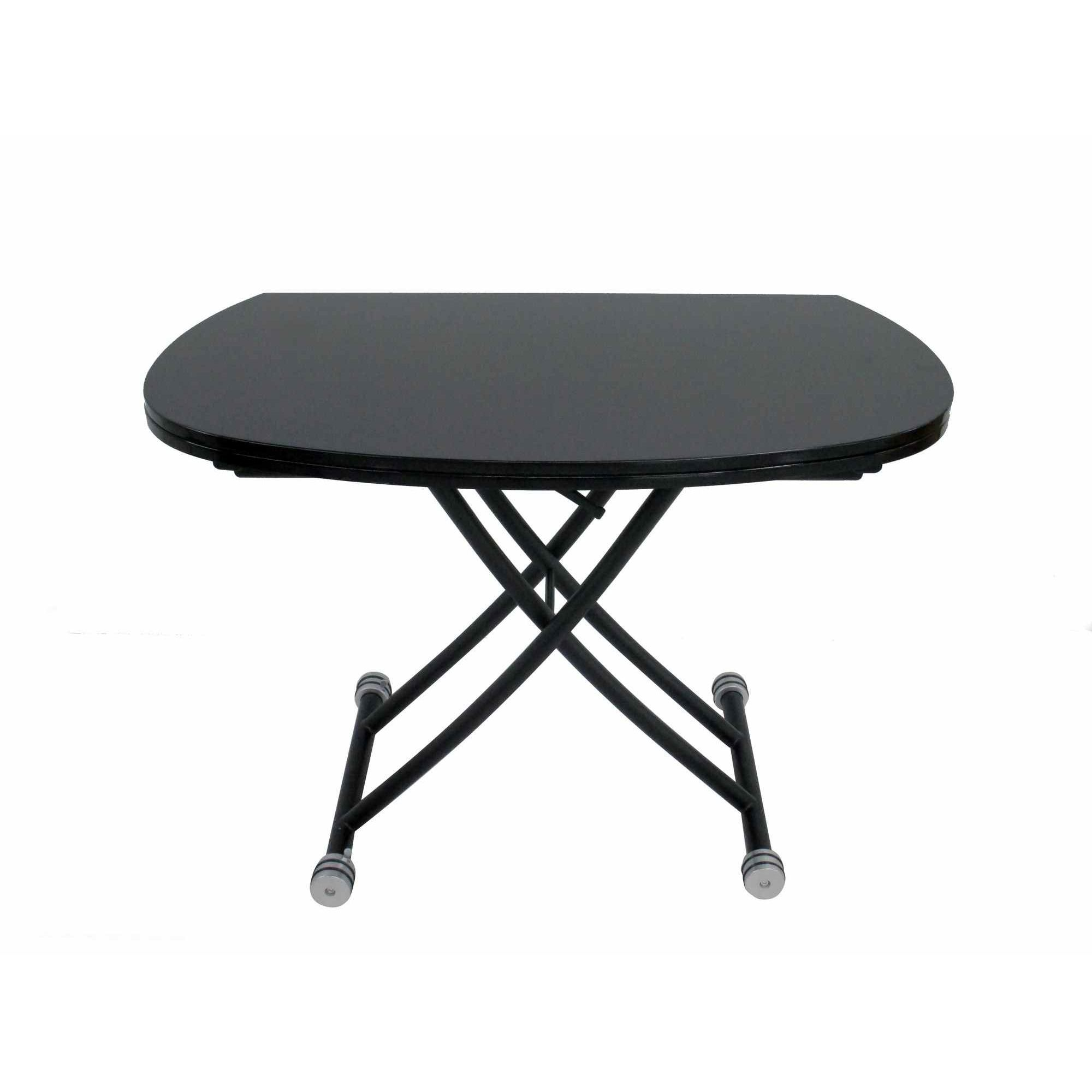 Deco in paris table basse relevable a rallonge laque noir caoza tab noir caoza - Table relevable rallonge ...