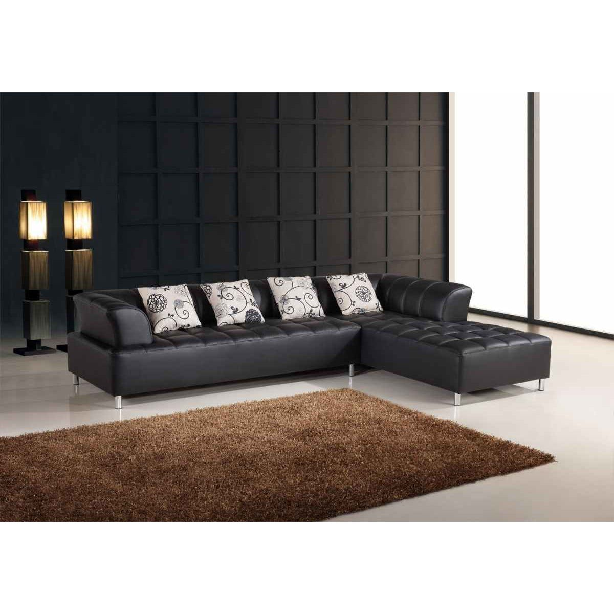deco in paris canape d angle capitonne noir verone can. Black Bedroom Furniture Sets. Home Design Ideas