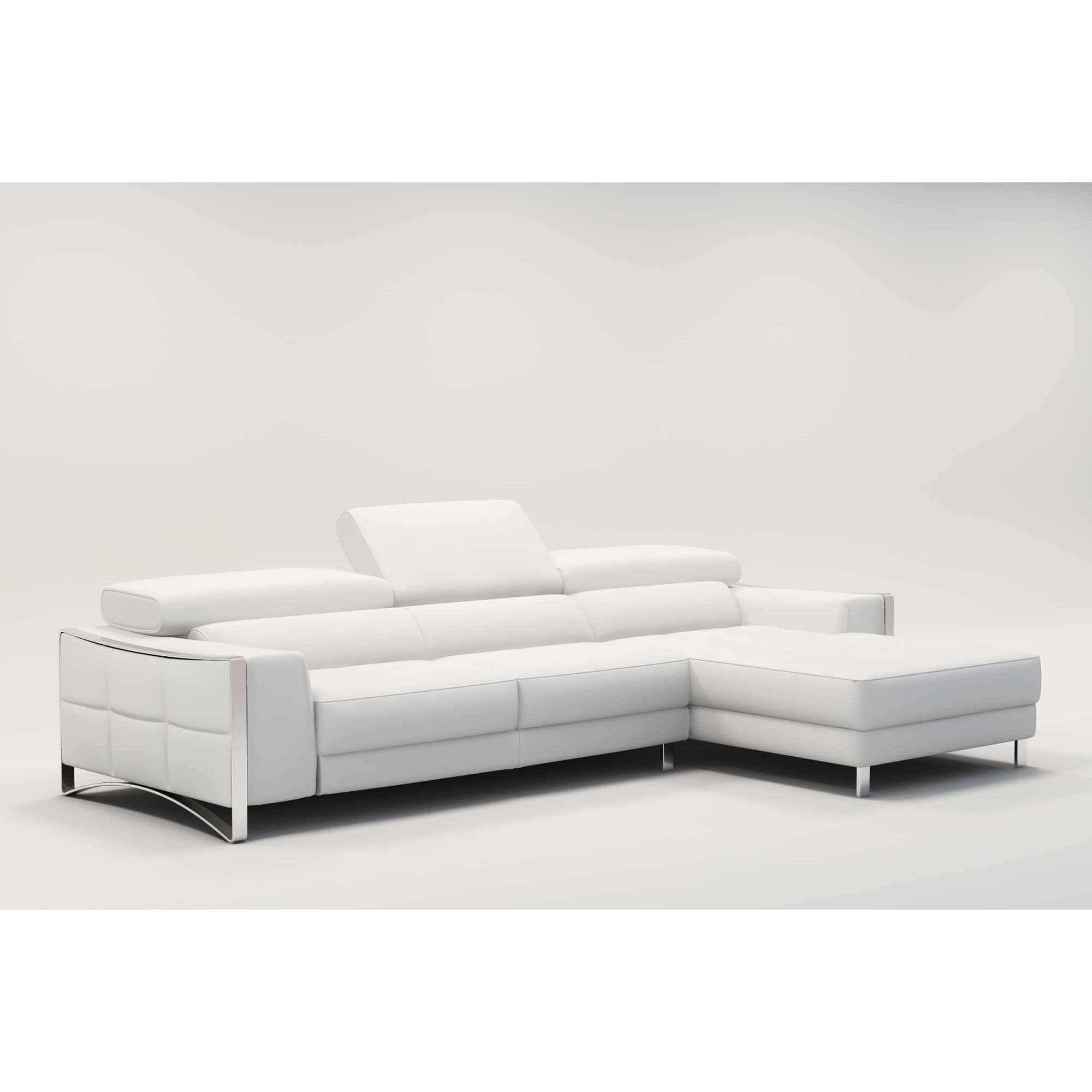 Canape blanc cuir design for Canape cuir blanc design