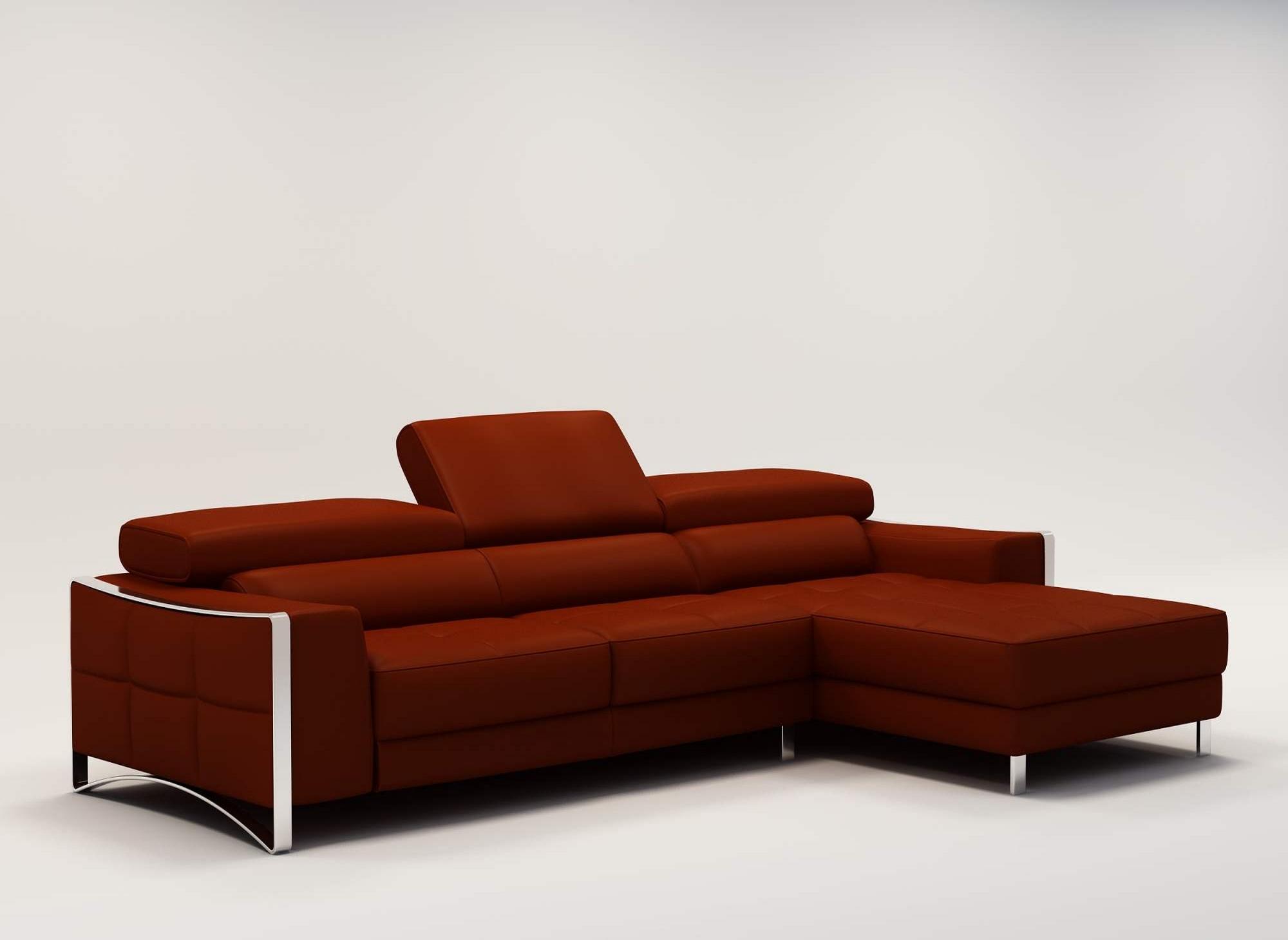 Deco in paris 2 canape d angle design en cuir rouge - Canape d angle rouge ...