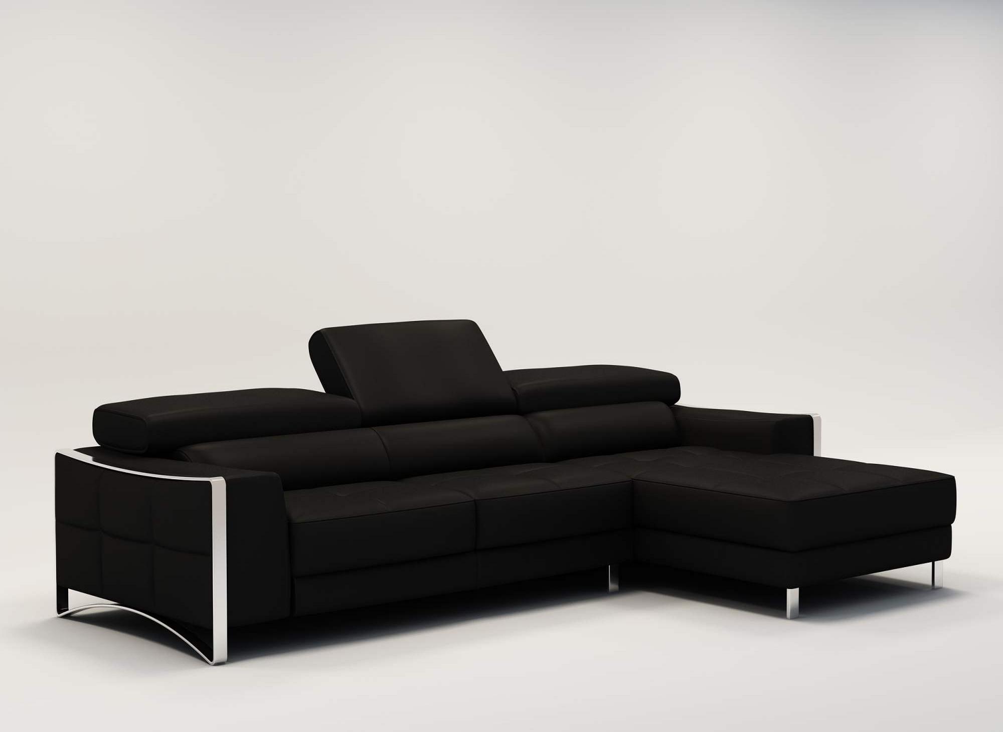Deco in paris - Canape cuir noir design ...