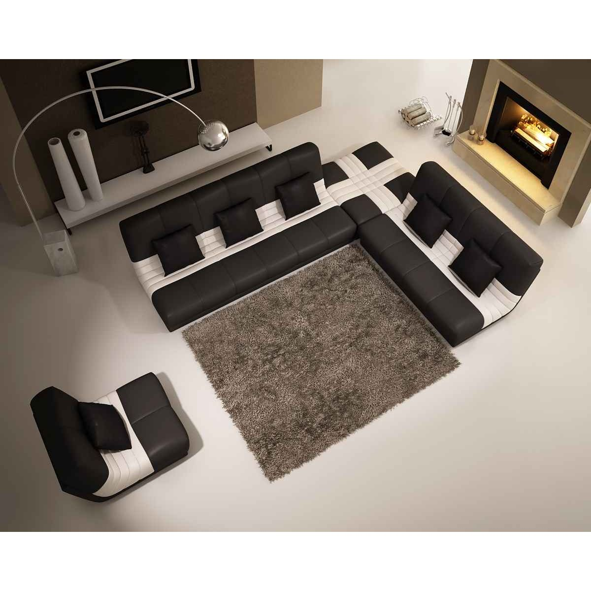 canape modulable en cuir maison design. Black Bedroom Furniture Sets. Home Design Ideas