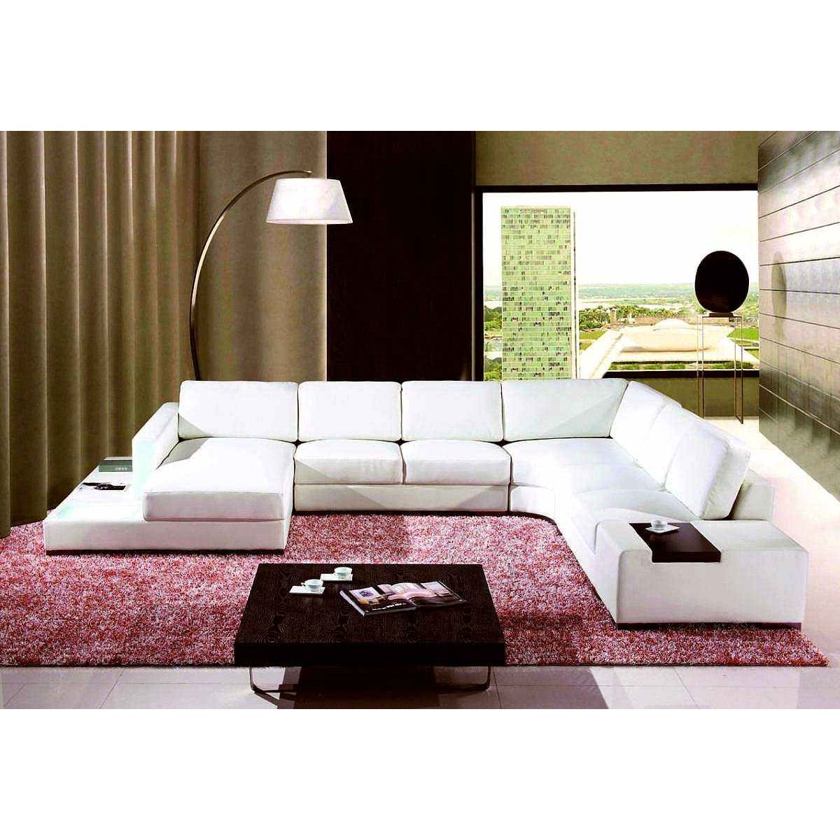 deco in paris canape cuir d angle blanc avec meridienne. Black Bedroom Furniture Sets. Home Design Ideas
