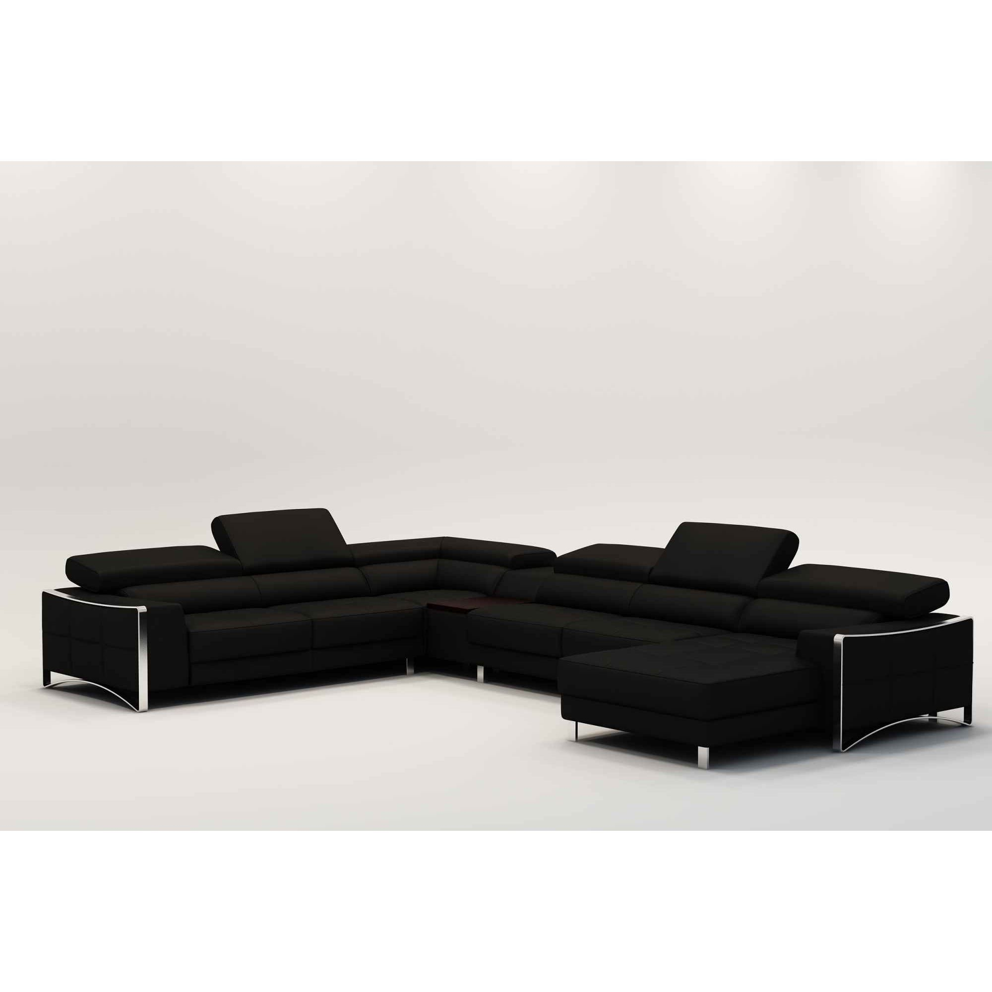 deco in paris canape d angle panoramique cuir noir angle. Black Bedroom Furniture Sets. Home Design Ideas