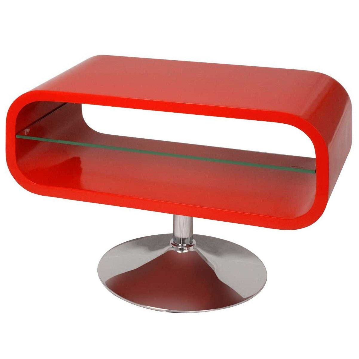 Etagere Rouge Fly Verre Satine X Cm With Etagere Rouge Fly  # Meuble Tv Pivotant Alinea