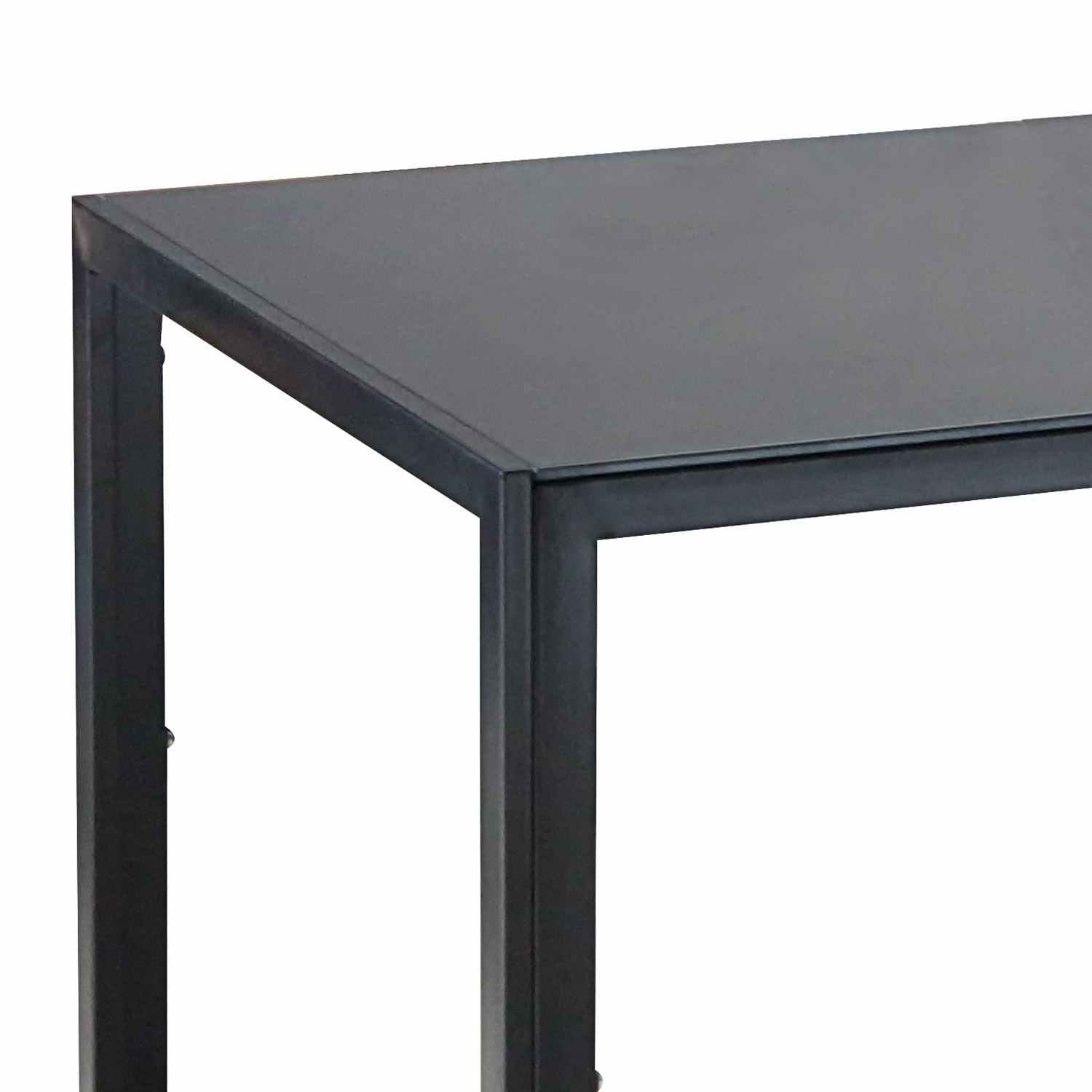 deco in paris table a manger noir en verre malia table malia. Black Bedroom Furniture Sets. Home Design Ideas