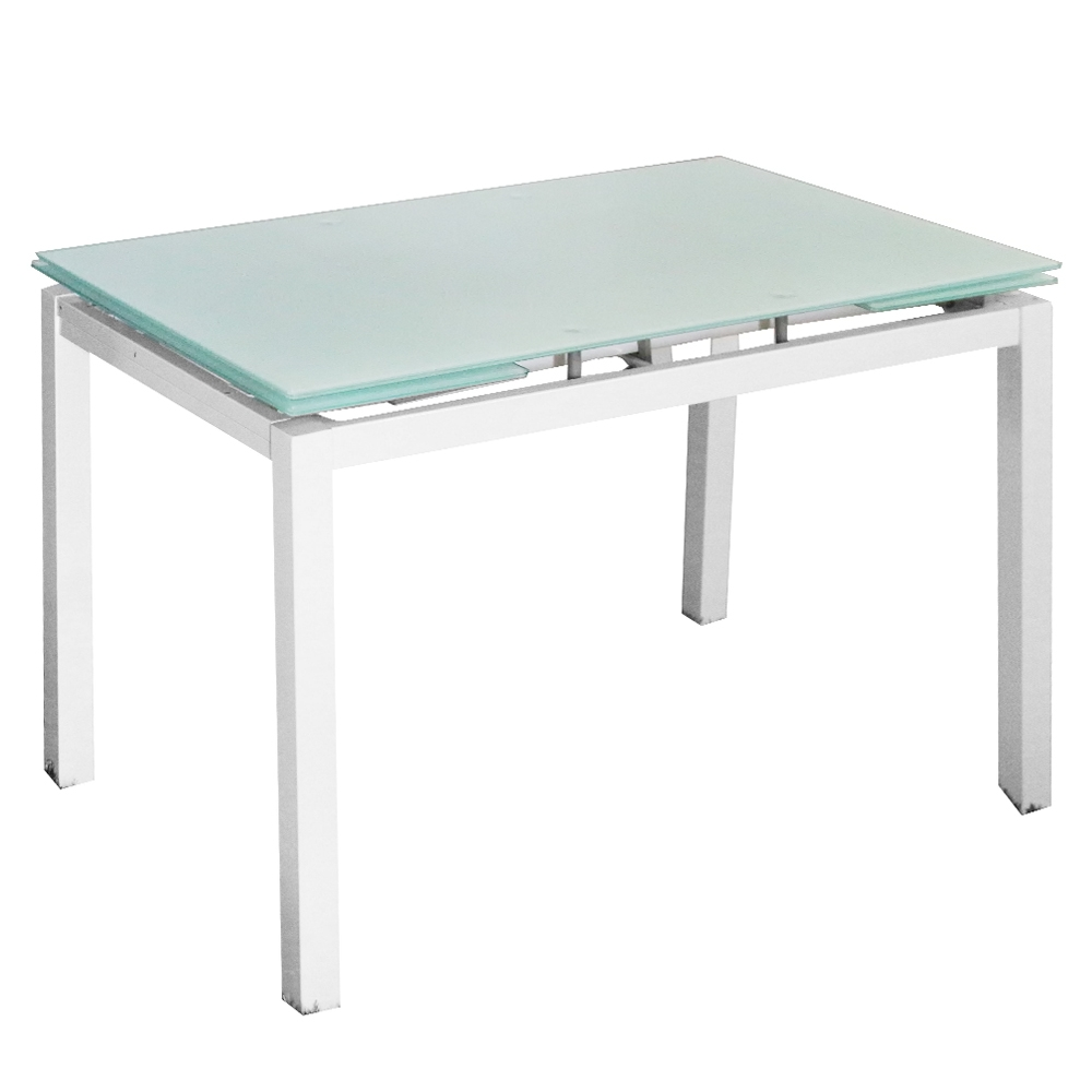 Deco in paris table a manger extensible blanche gisborne gisborne blanc - Table extensible blanche ...