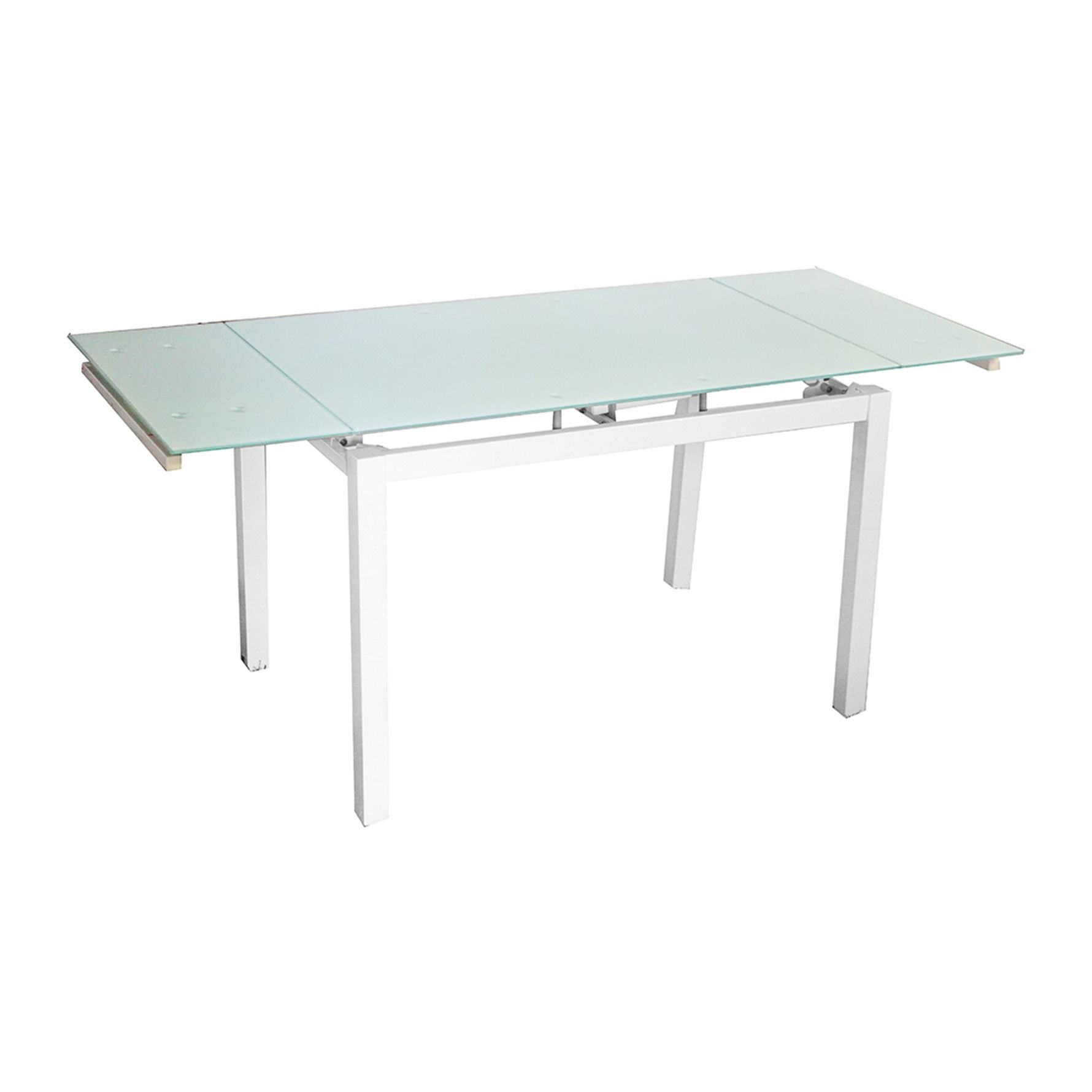 Deco in paris table a manger extensible blanche gisborne for Table a manger blanche