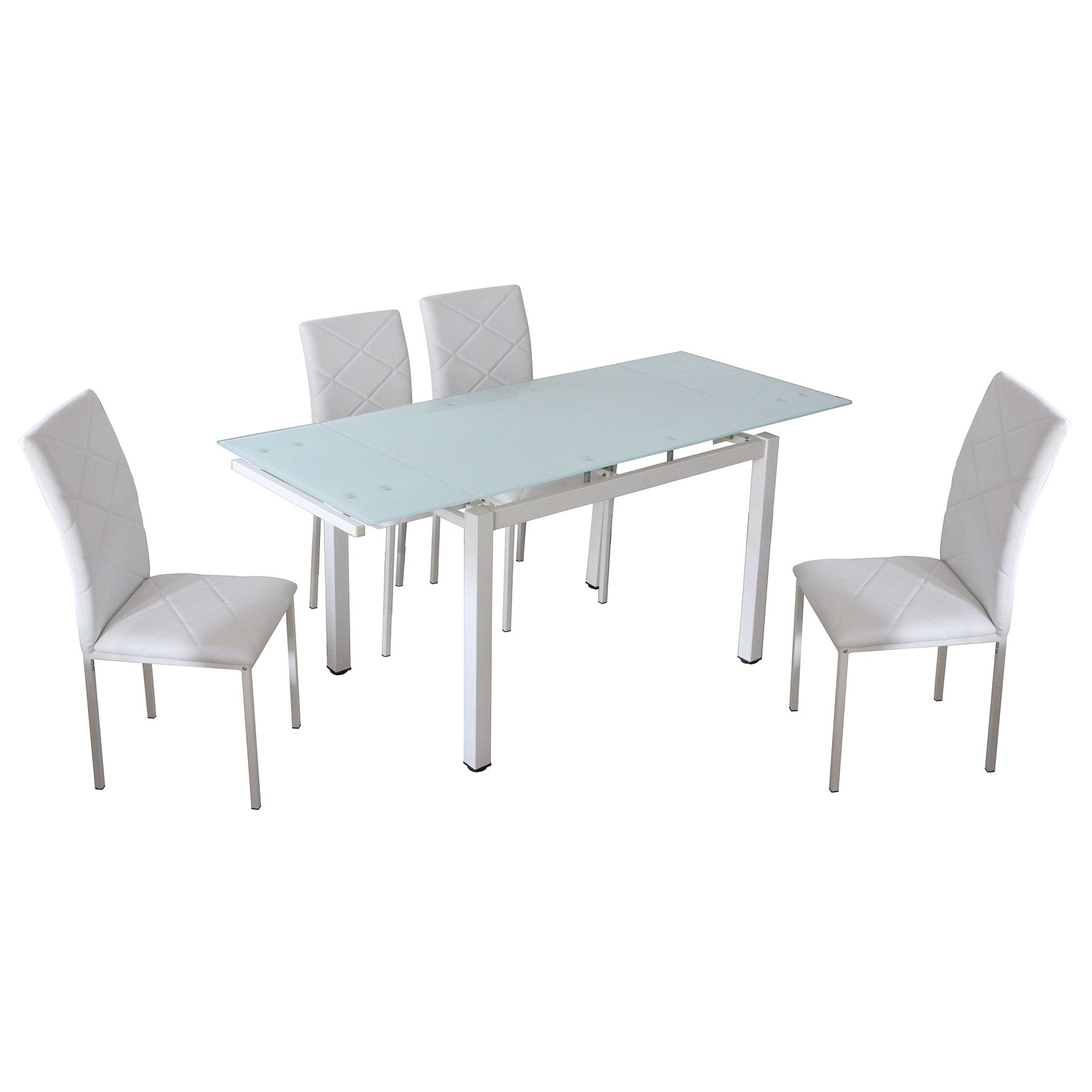 Deco in paris table a manger extensible 4 chaises for Table a manger extensible blanche