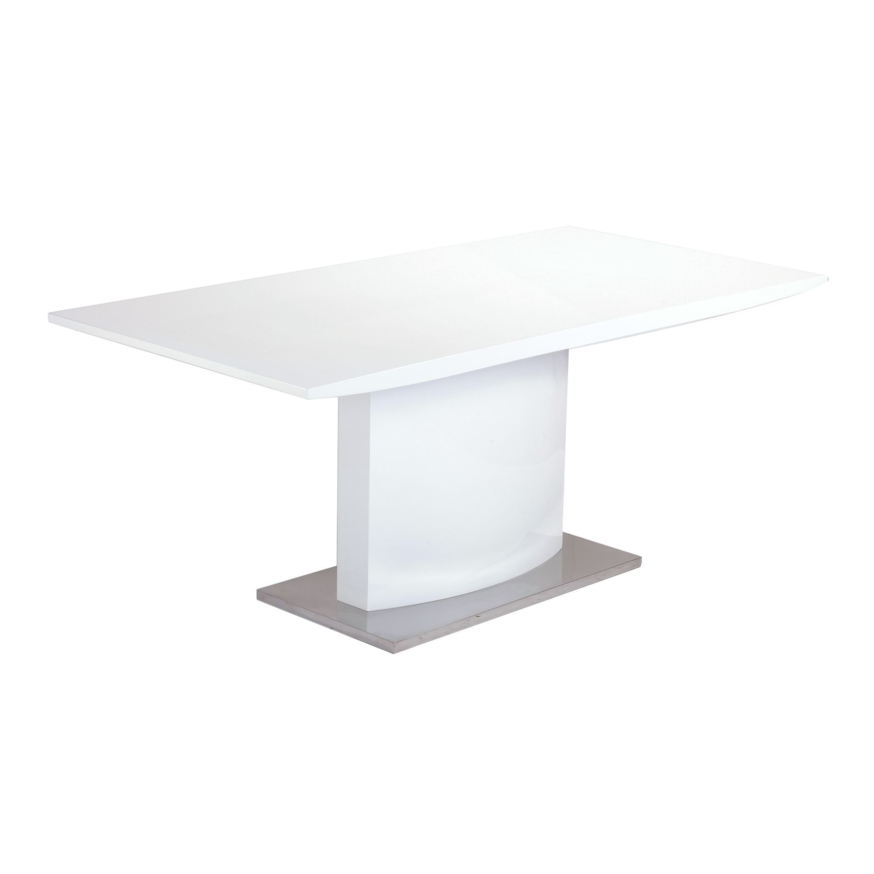 Deco in paris table a manger laquee blanche california for Table a manger blanche