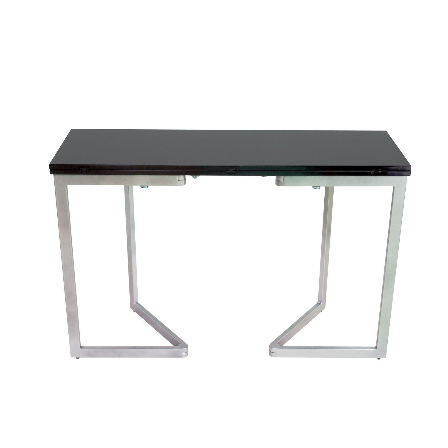accueil table table console extensible table console extensible noire laqu e talia. Black Bedroom Furniture Sets. Home Design Ideas