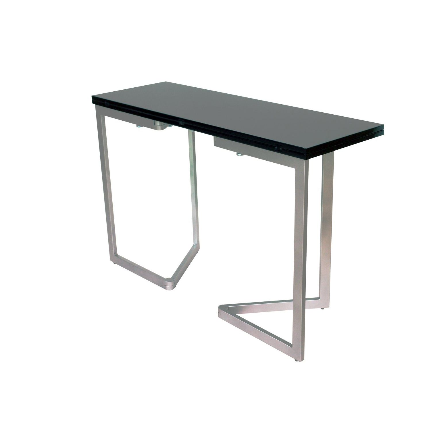 deco in paris table console extensible noire laquee. Black Bedroom Furniture Sets. Home Design Ideas