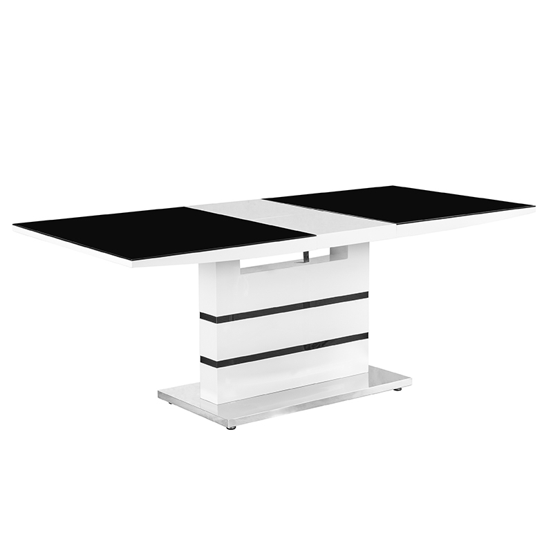 Deco in paris table 4 chaises design noir et blanc for Ensemble table et chaise noir et blanc