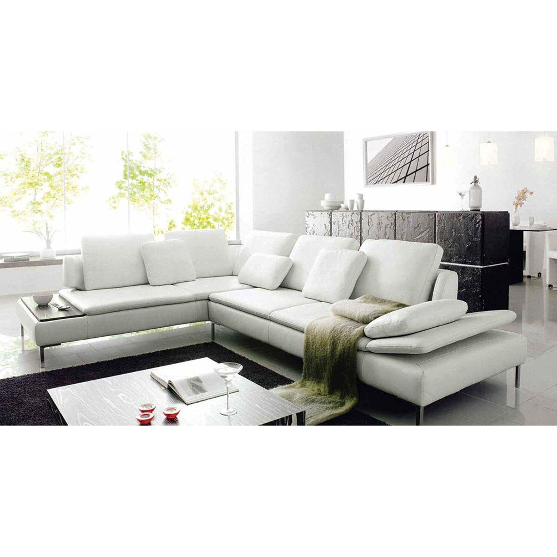 Canape angle cuir blanc maison design for Canape angle cuir but