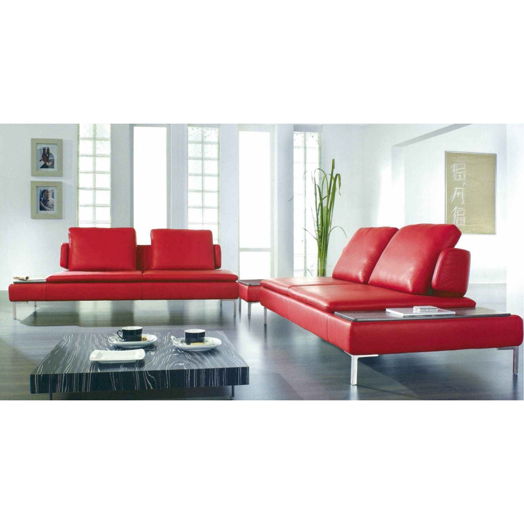 Deco in paris canape d angle design cuir rouge carlton can anglegauche carl - Canape d angle cuir rouge ...