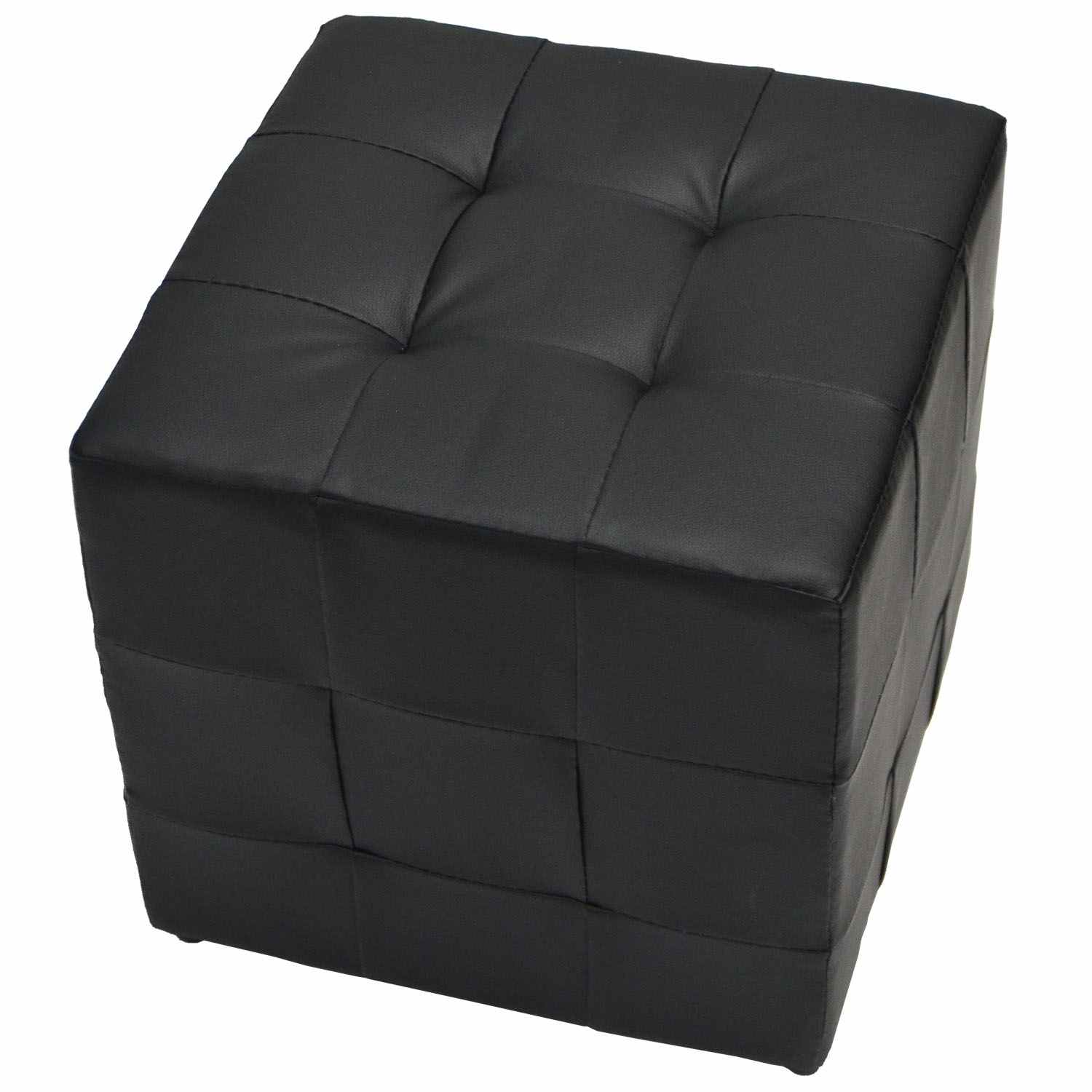 pouf carre noir pas cher. Black Bedroom Furniture Sets. Home Design Ideas