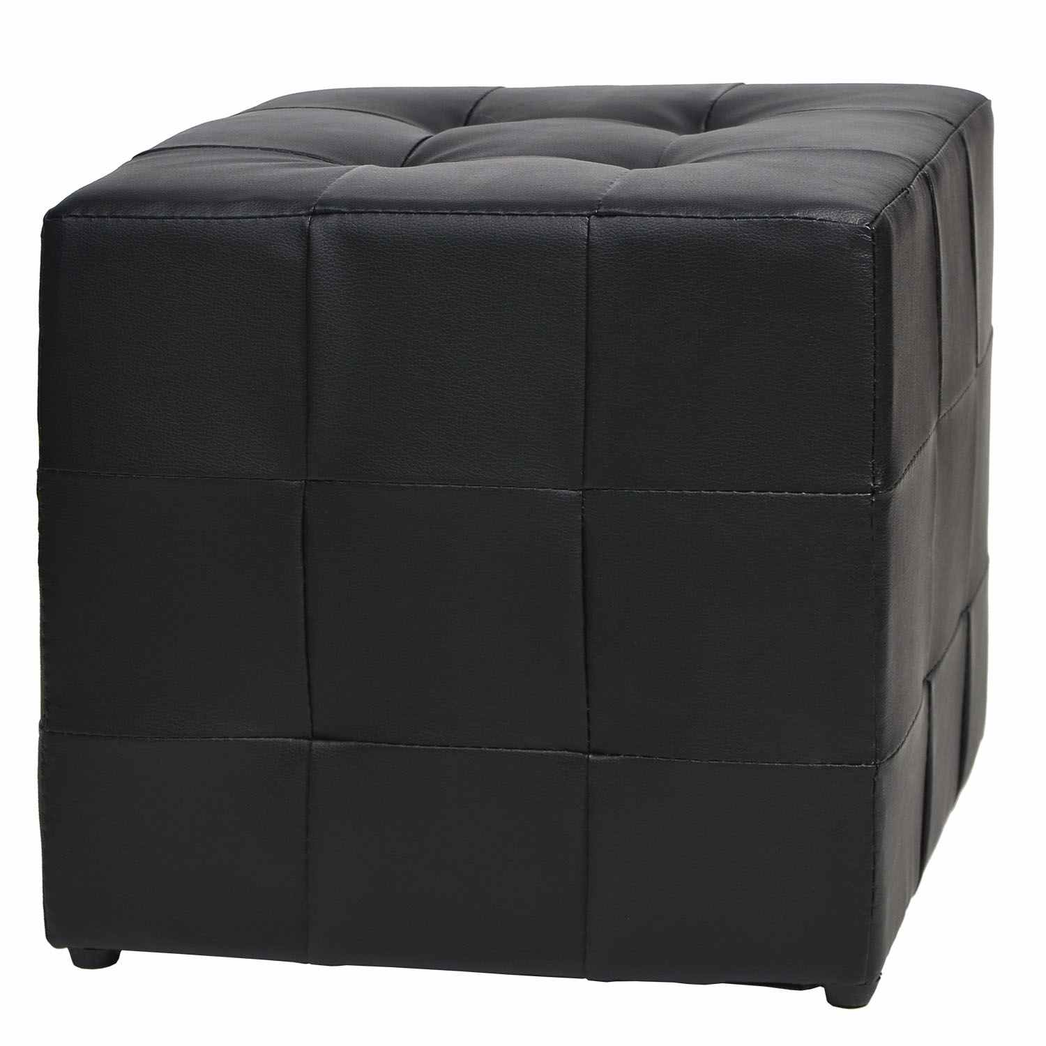 deco in paris pouf carre capitonne noir ducas pouf ducas pu noir. Black Bedroom Furniture Sets. Home Design Ideas