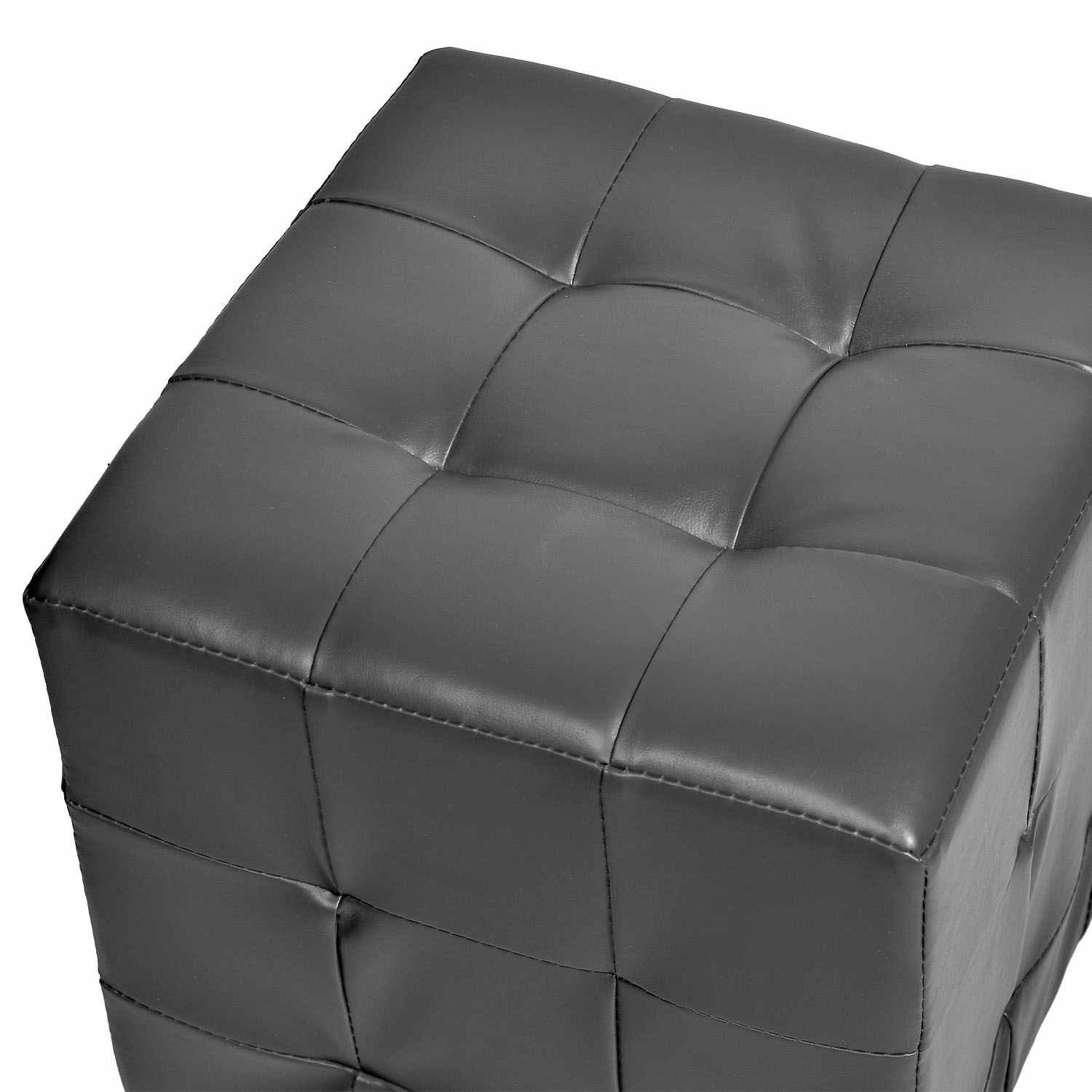 deco in paris pouf carre capitonne gris ducas pouf ducas pu gris. Black Bedroom Furniture Sets. Home Design Ideas