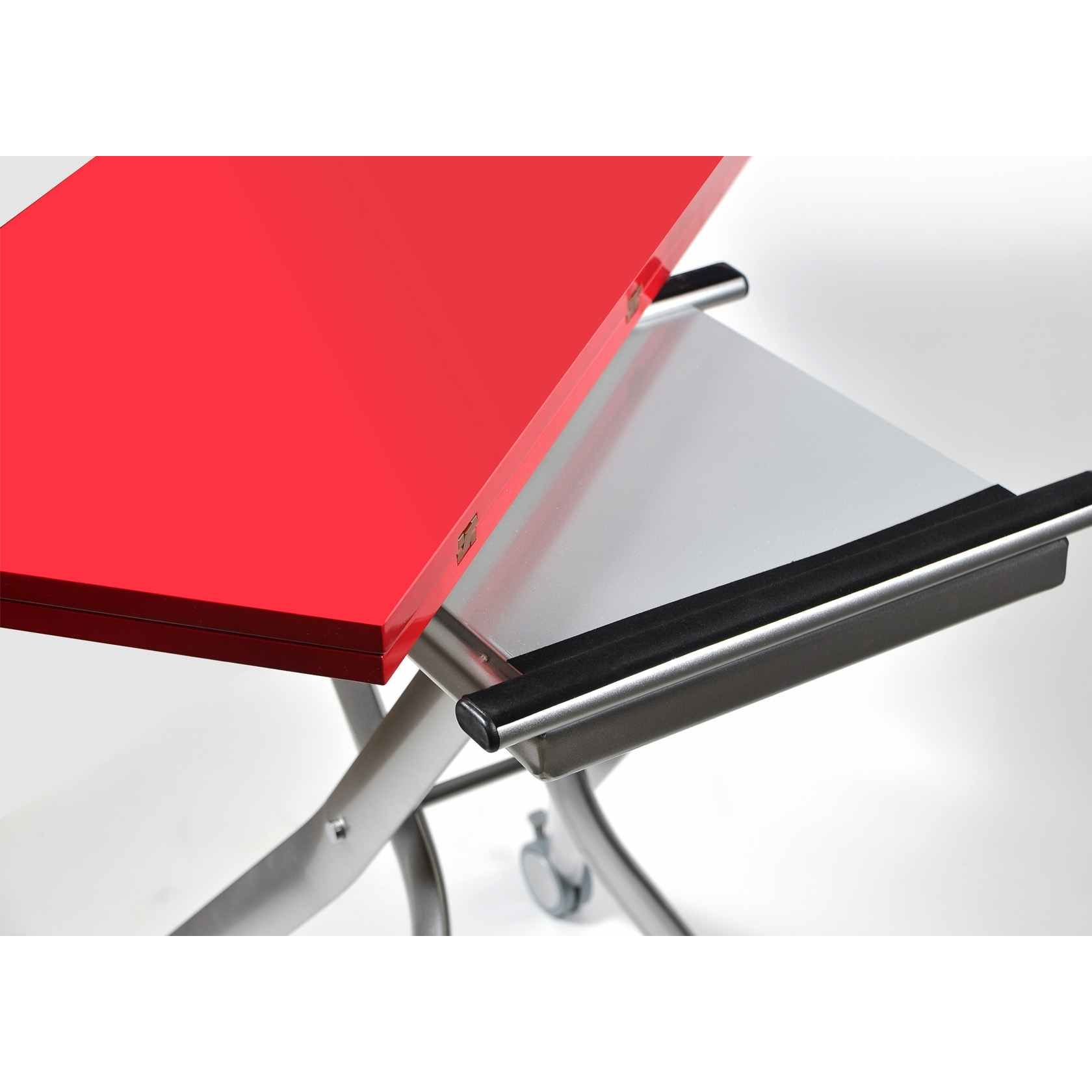 Deco in paris 4 table basse laquee rouge design relevable et extensible cruise table cruise - Table basse relevable rouge ...