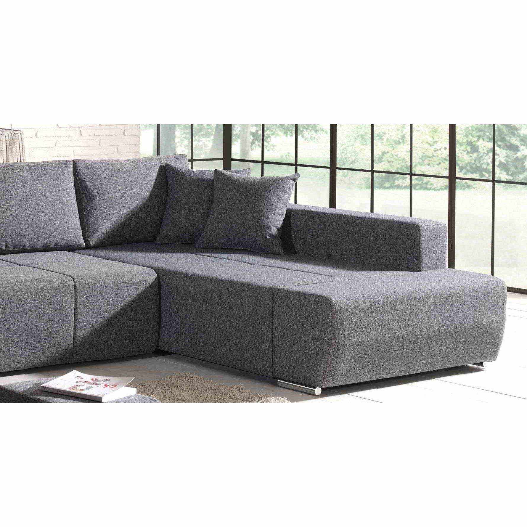 deco in paris canape d angle convertible tissu gris 2 poufs mila mila gris 3 m. Black Bedroom Furniture Sets. Home Design Ideas