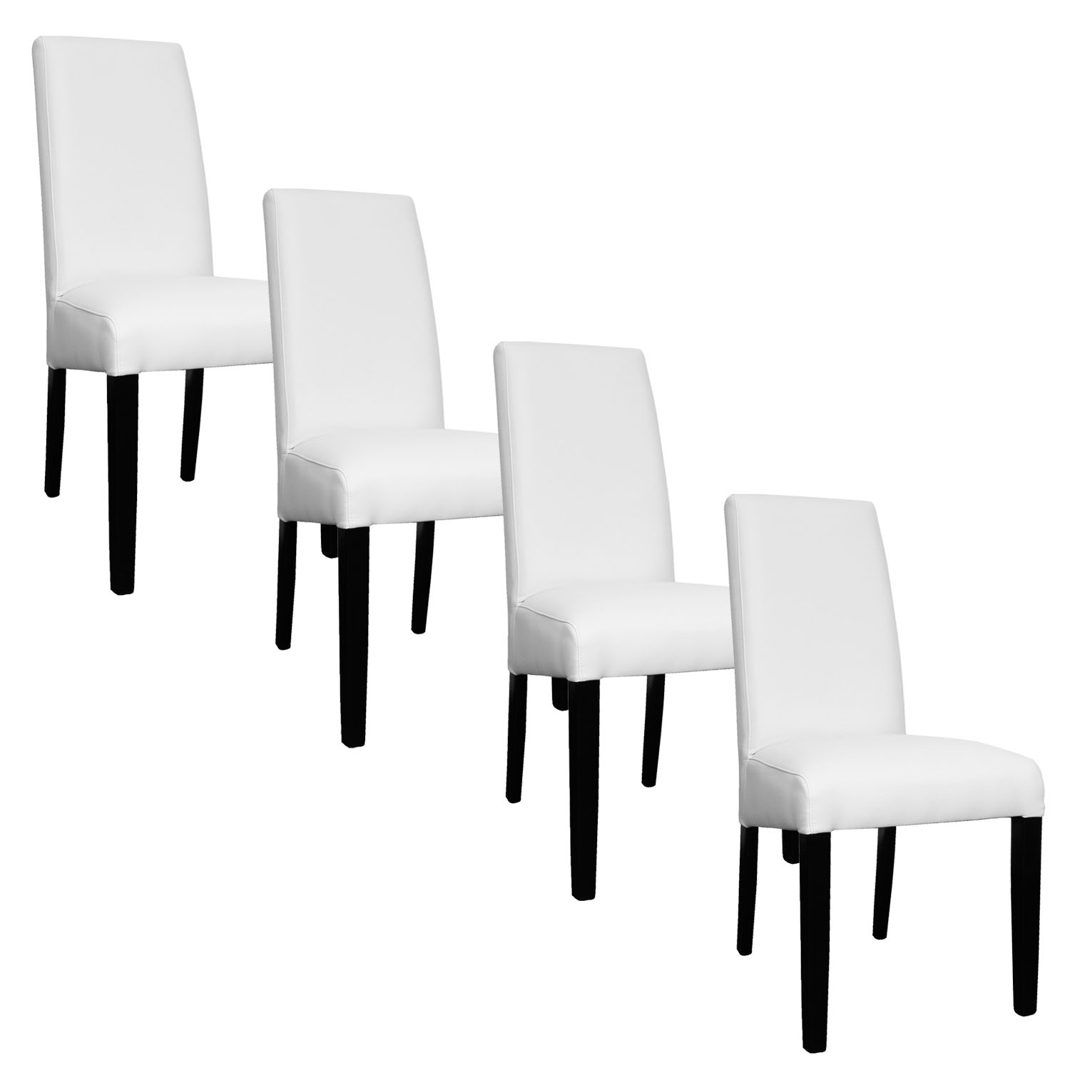 Deco in paris lot de 4 chaises blanche muka muka x4 blanc for Chaise blanche