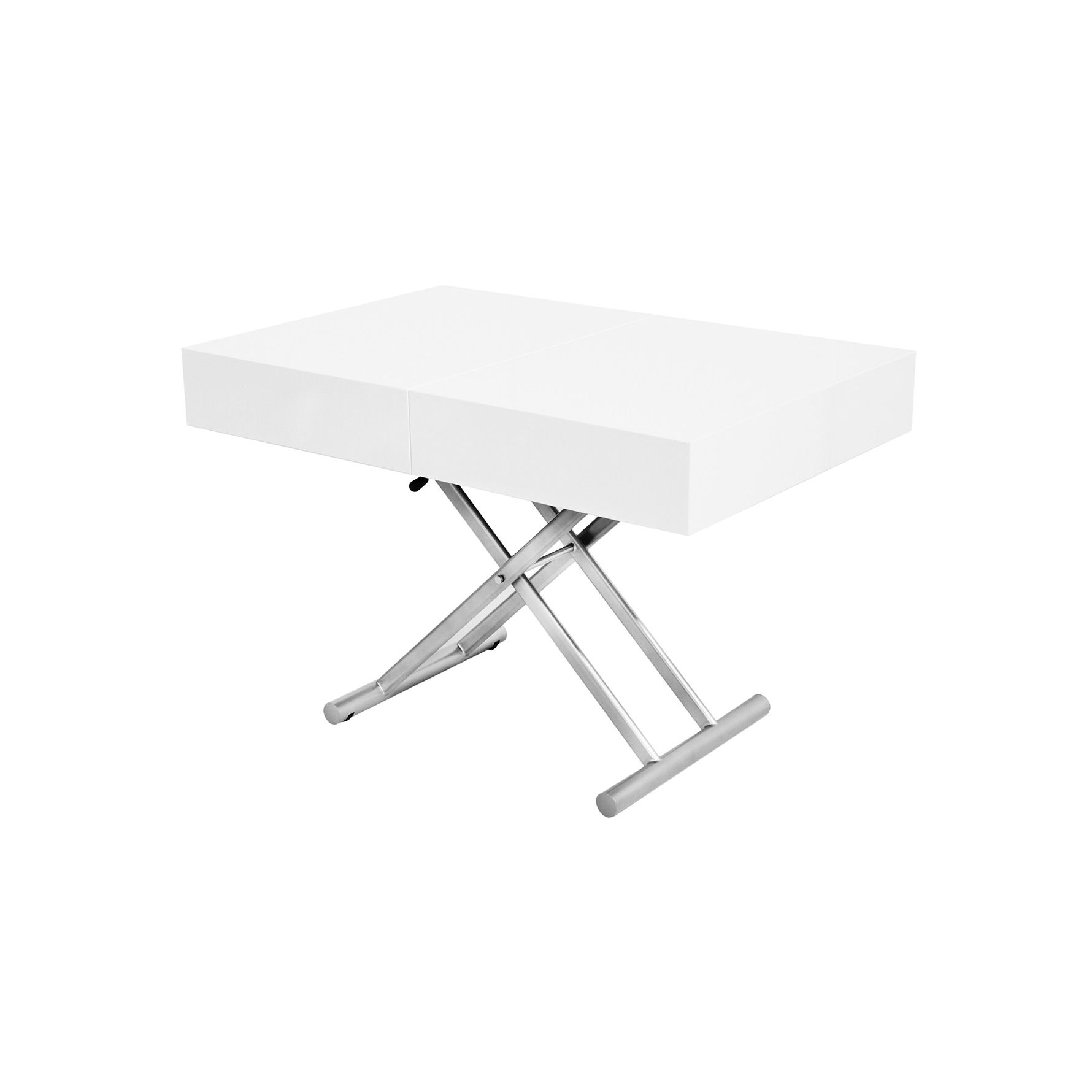 deco in paris table basse relevable extensible blanche laquee smart tab rel mdf smart blanc. Black Bedroom Furniture Sets. Home Design Ideas