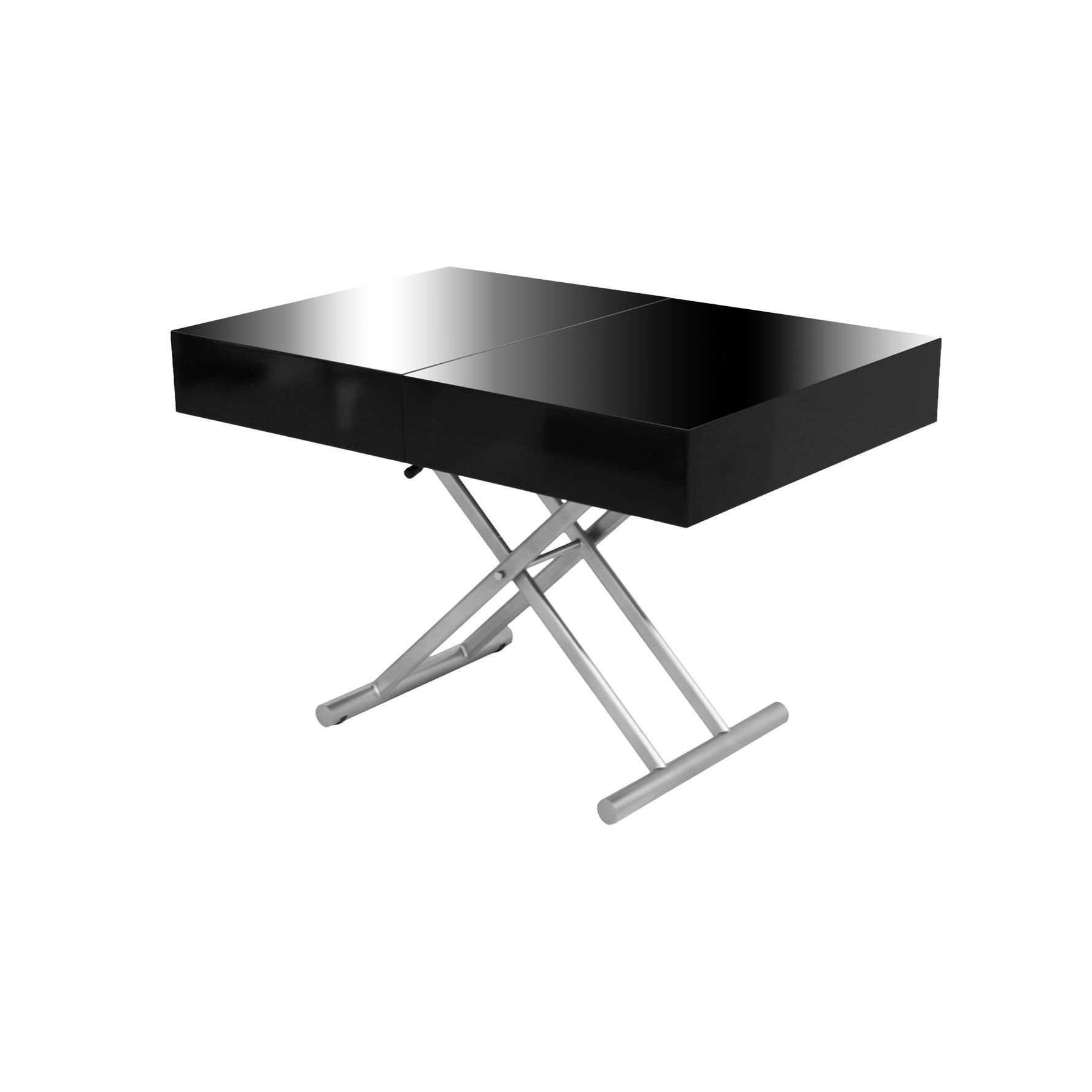 Deco in paris table basse relevable extensible noire - Table extensible laquee ...