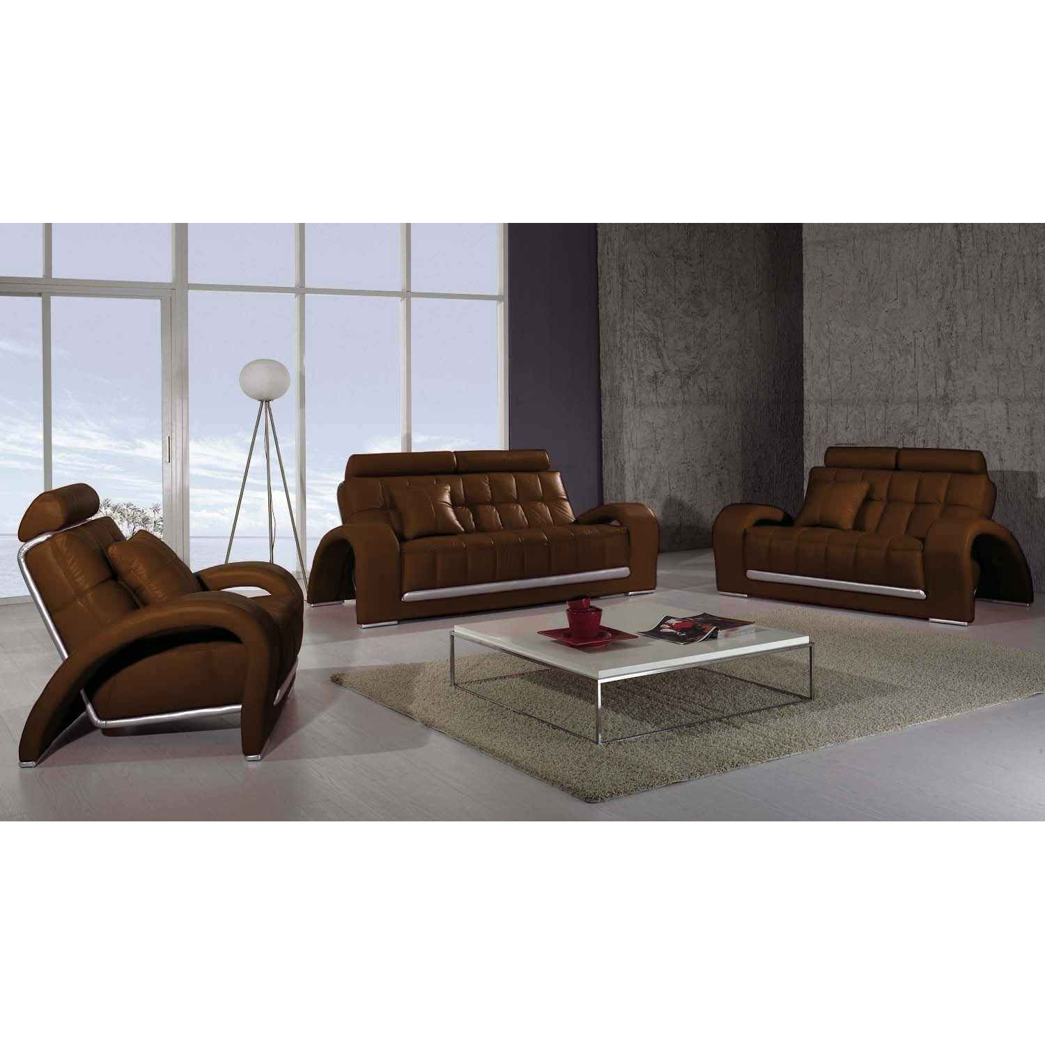 deco in paris canape cuir marron 2 places verdi can verdi 2p pu marron. Black Bedroom Furniture Sets. Home Design Ideas