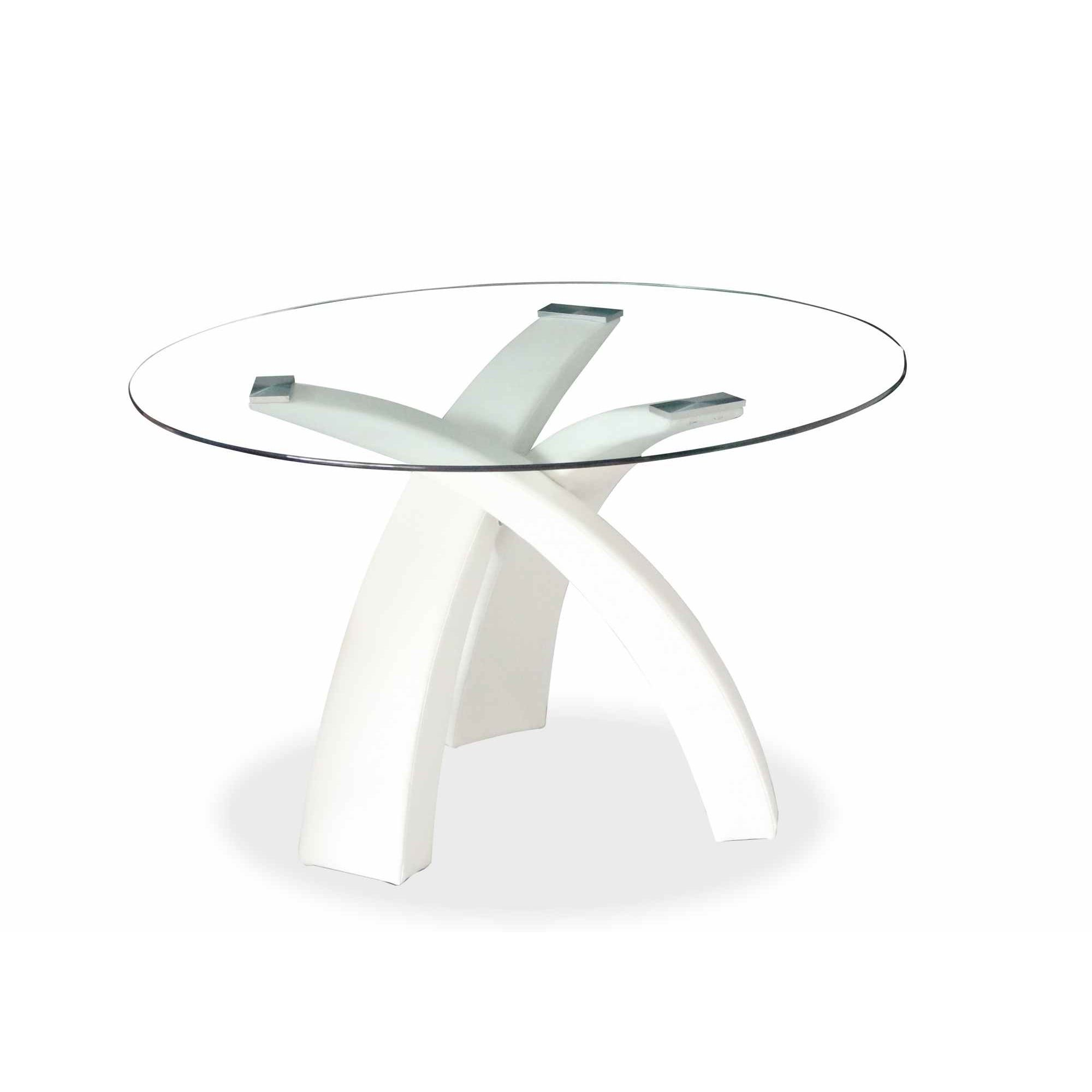 Emejing table a manger blanche ronde contemporary awesome interior home satellite - Table ronde extensible blanche ...
