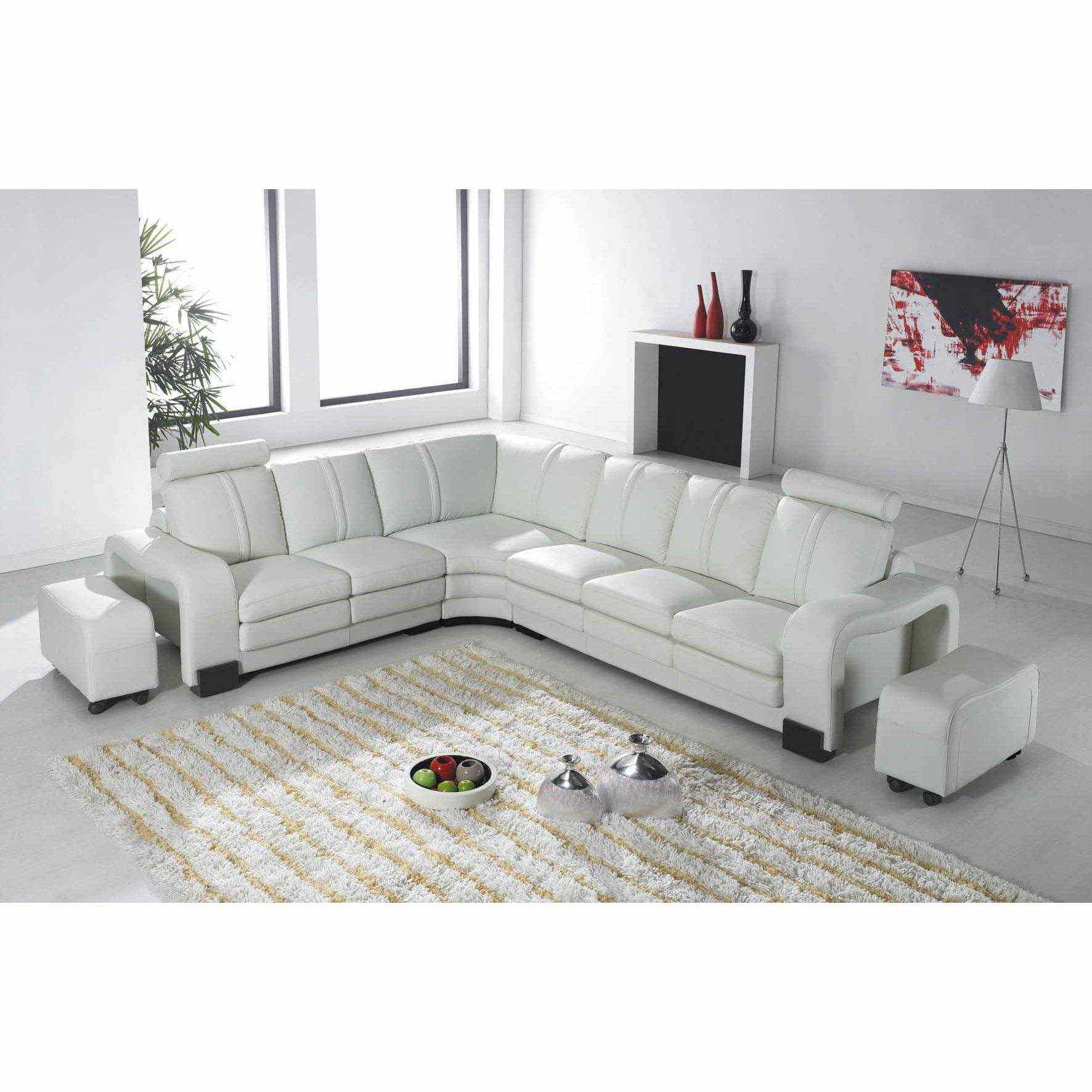 Canap d angle convertible cuir blanc canap sofa divan for Canape dangle cuir