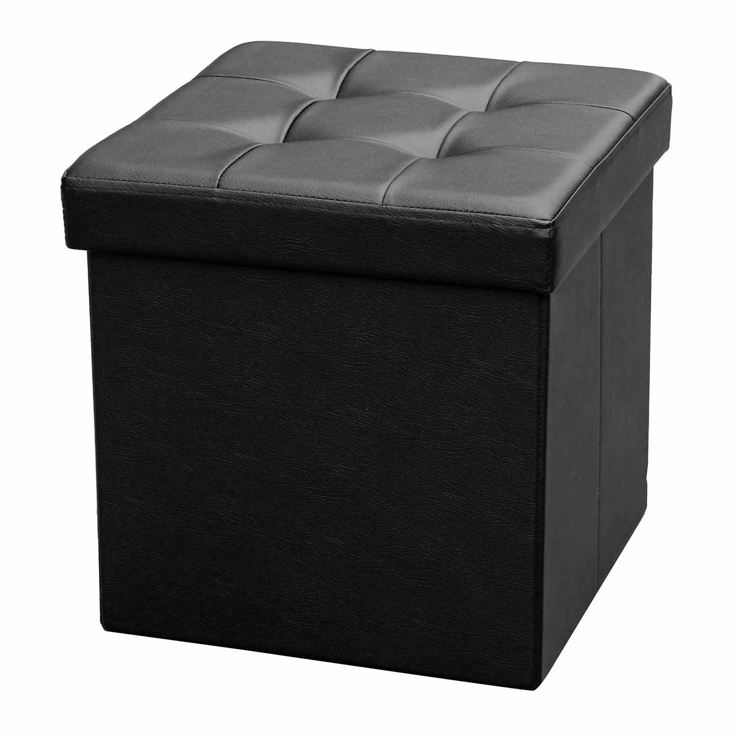 table basse carre sophia en pvc noir. Black Bedroom Furniture Sets. Home Design Ideas