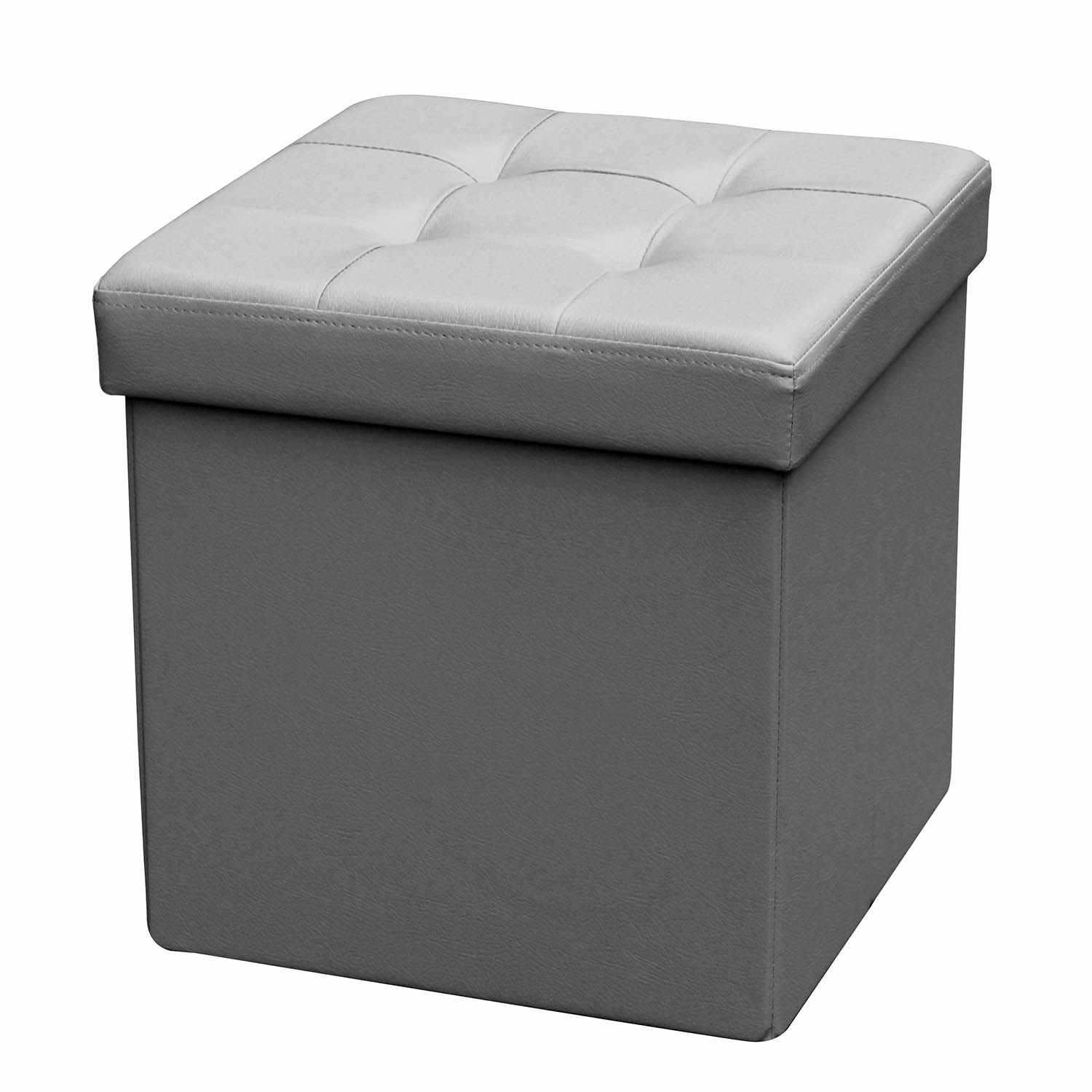 deco in paris 0 pouf coffre carre pliable gris pouf carre pliable gris. Black Bedroom Furniture Sets. Home Design Ideas