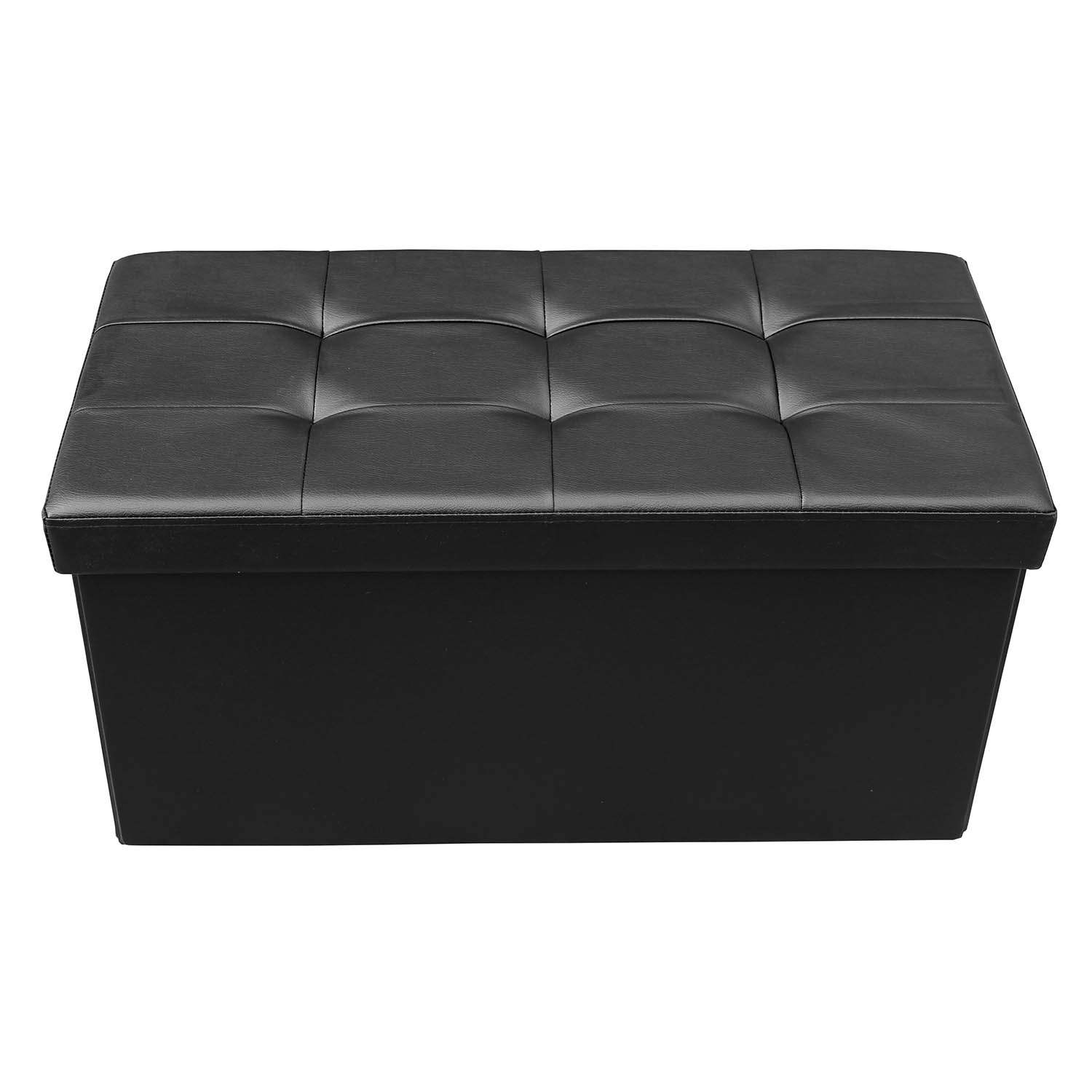 deco in paris banquette coffre pliable noir steven. Black Bedroom Furniture Sets. Home Design Ideas