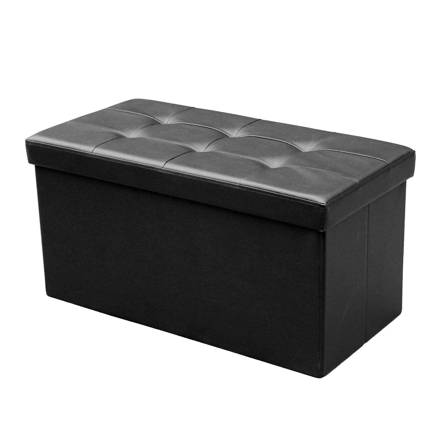 deco in paris banquette coffre pliable noir steven banquette pliable noir. Black Bedroom Furniture Sets. Home Design Ideas