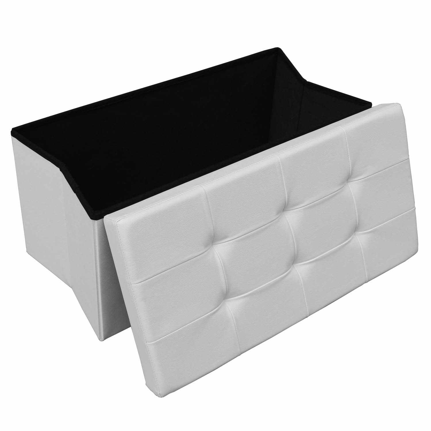 deco in paris banquette coffre pliable blanche steven banquette pliable blanc steven. Black Bedroom Furniture Sets. Home Design Ideas