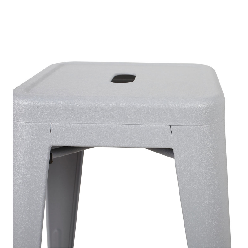 Deco In Paris Tabouret De Bar En Metal Gris Laque King Lot De 4 Tabouret X4 Fer King Gris