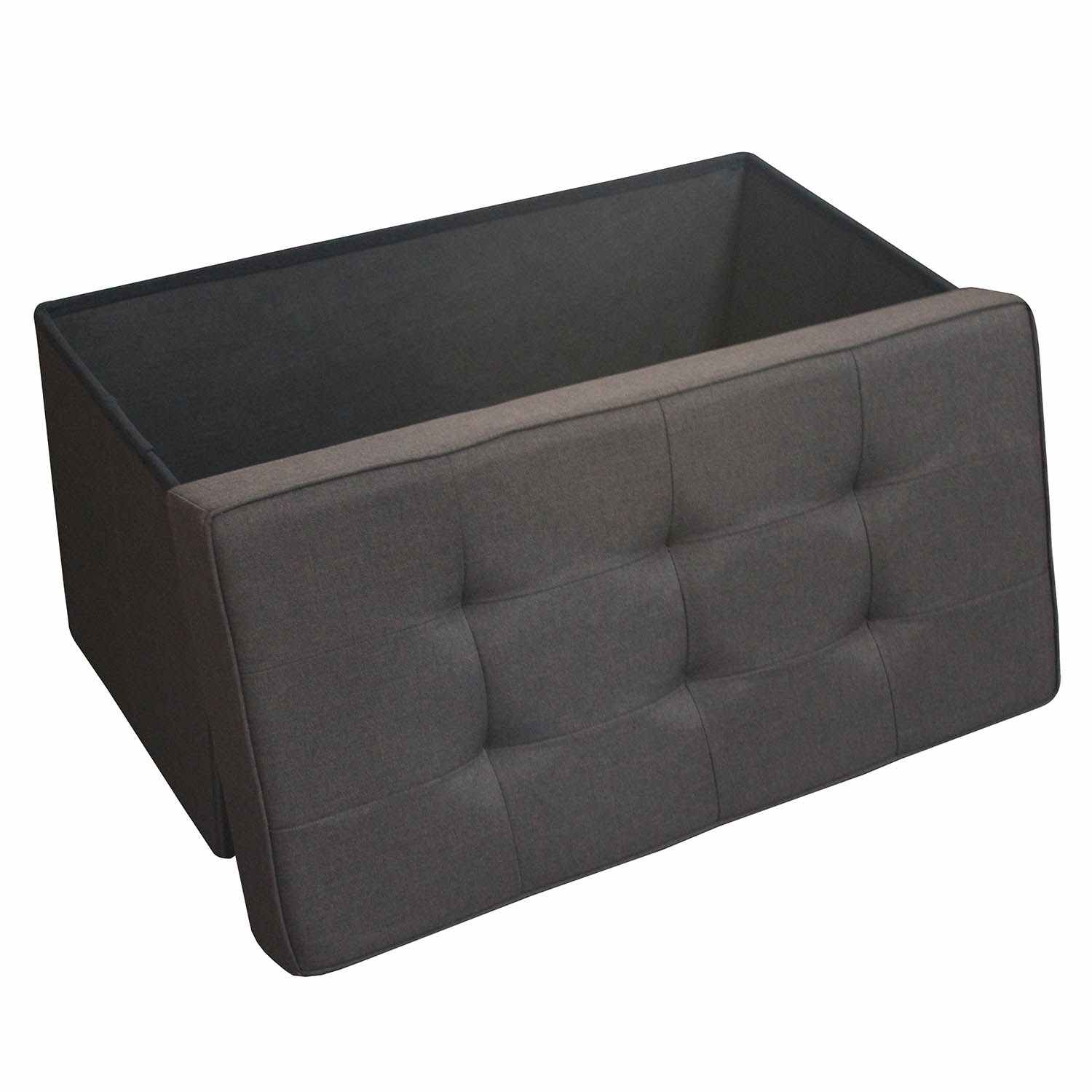 deco in paris banquette coffre pliable en tissu marron steven banquette pliable tissu marron. Black Bedroom Furniture Sets. Home Design Ideas