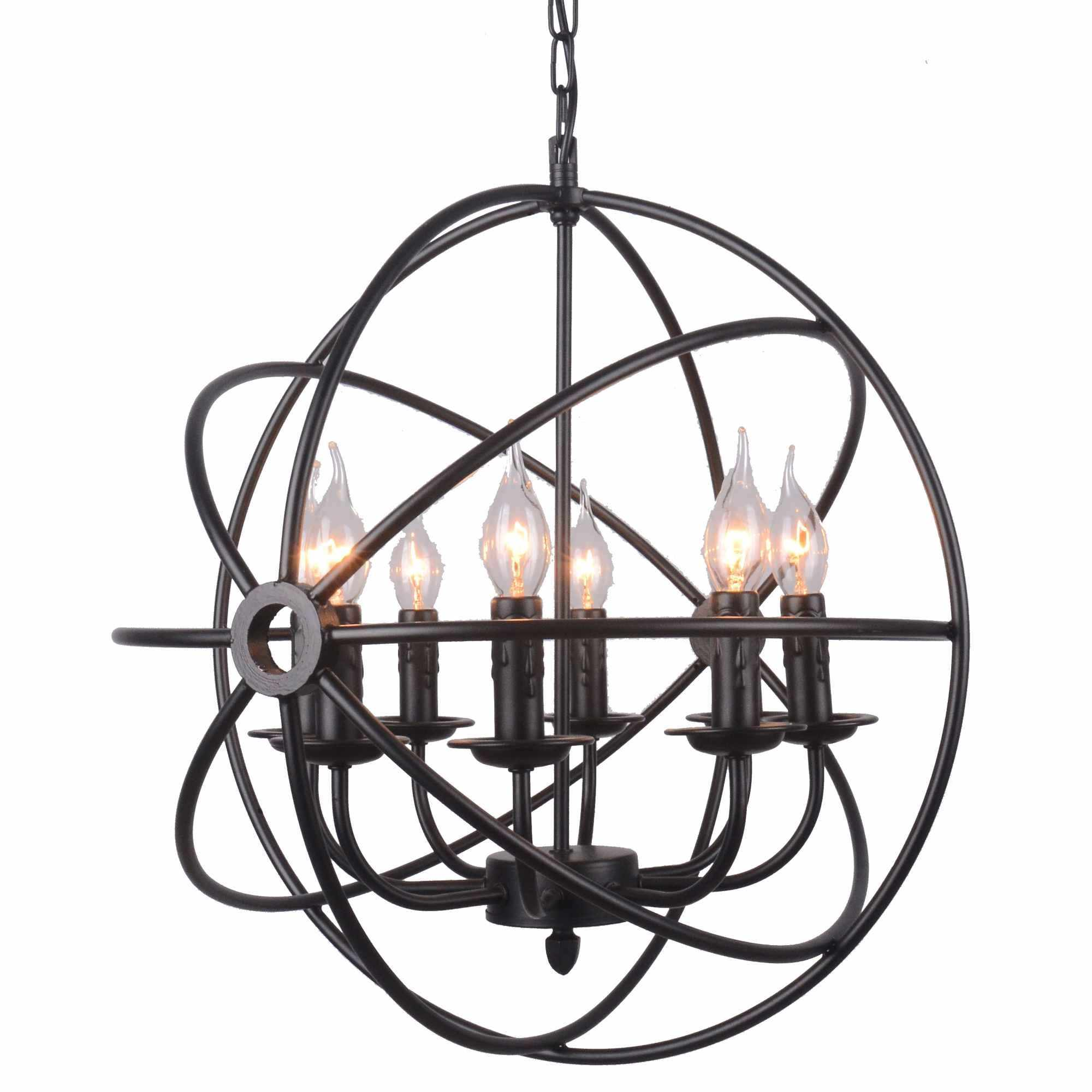 deco in paris lustre contemporain en metal noir sfere