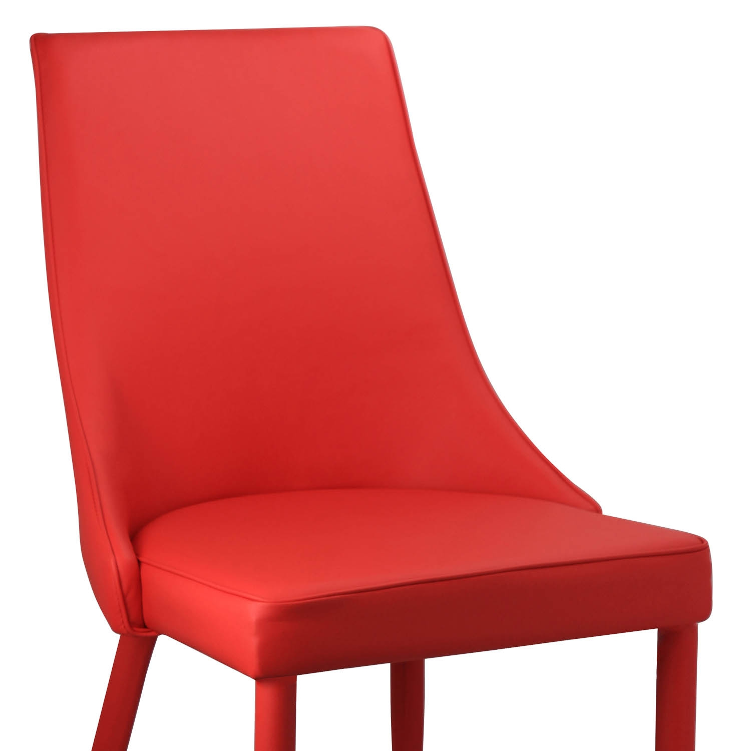 Deco in paris lot de 4 chaises rouge avev avev rouge x4 for Chaise rouge