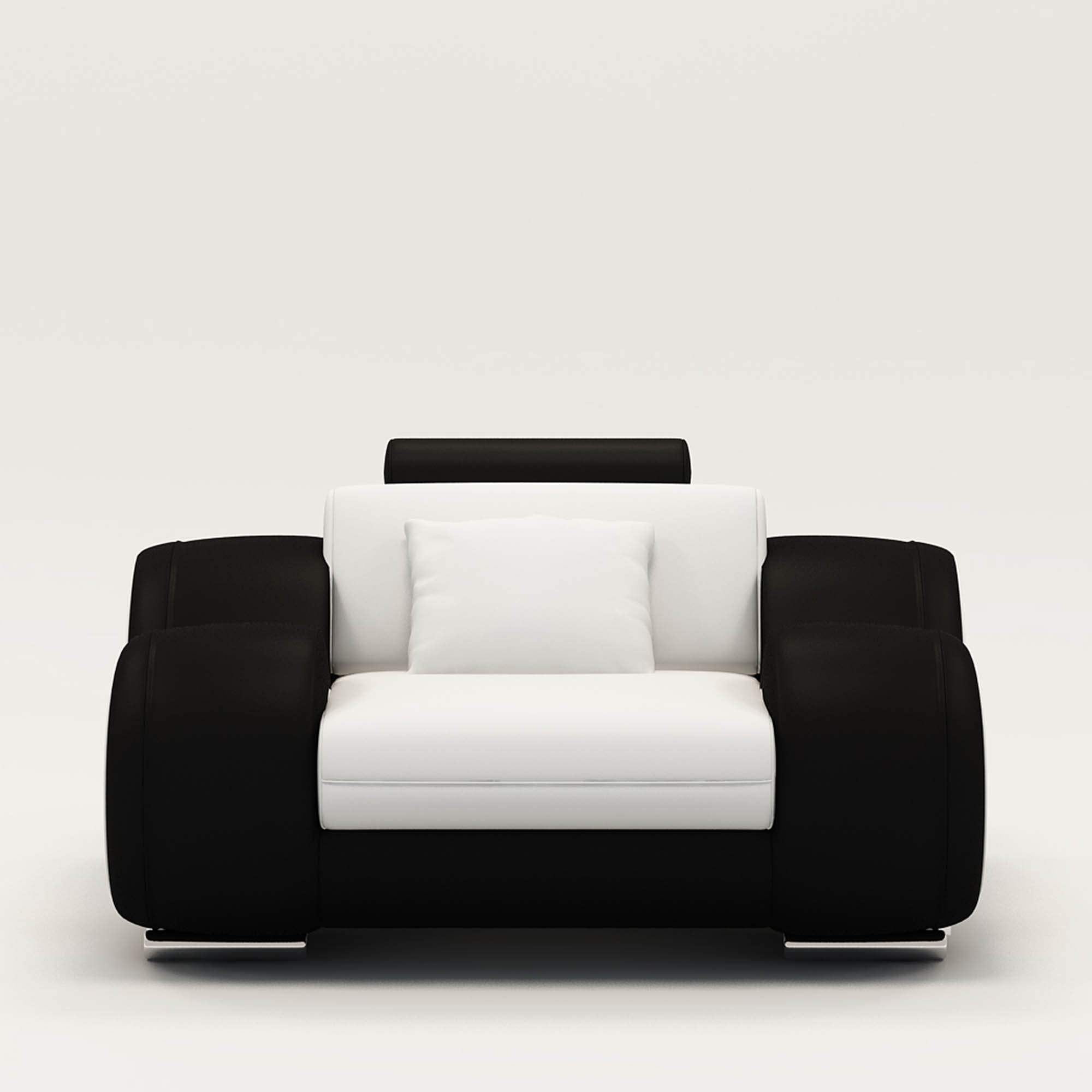 fauteuil blanc et noir. Black Bedroom Furniture Sets. Home Design Ideas