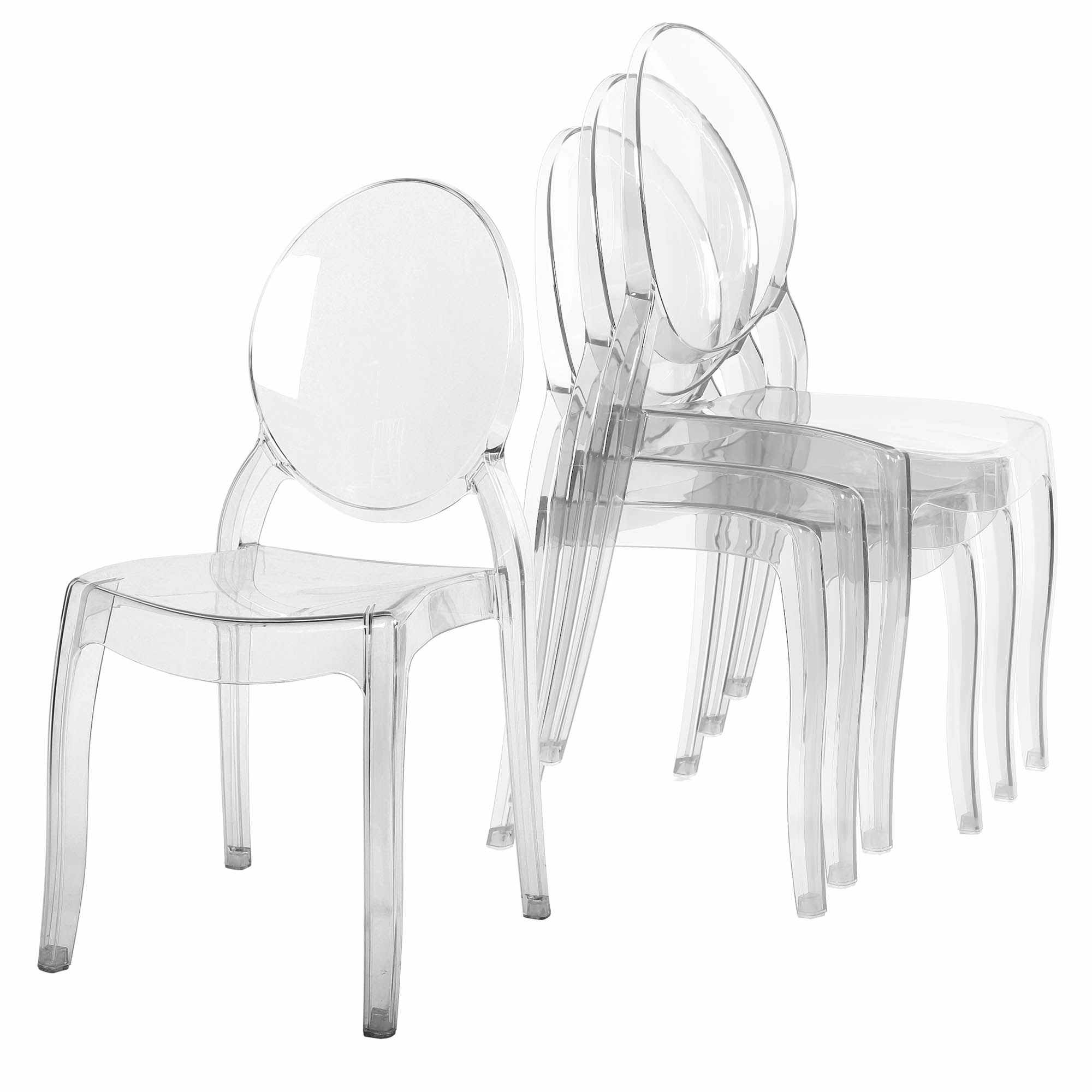 Lot De 4 Chaises Transparent En Plexi TOLGA