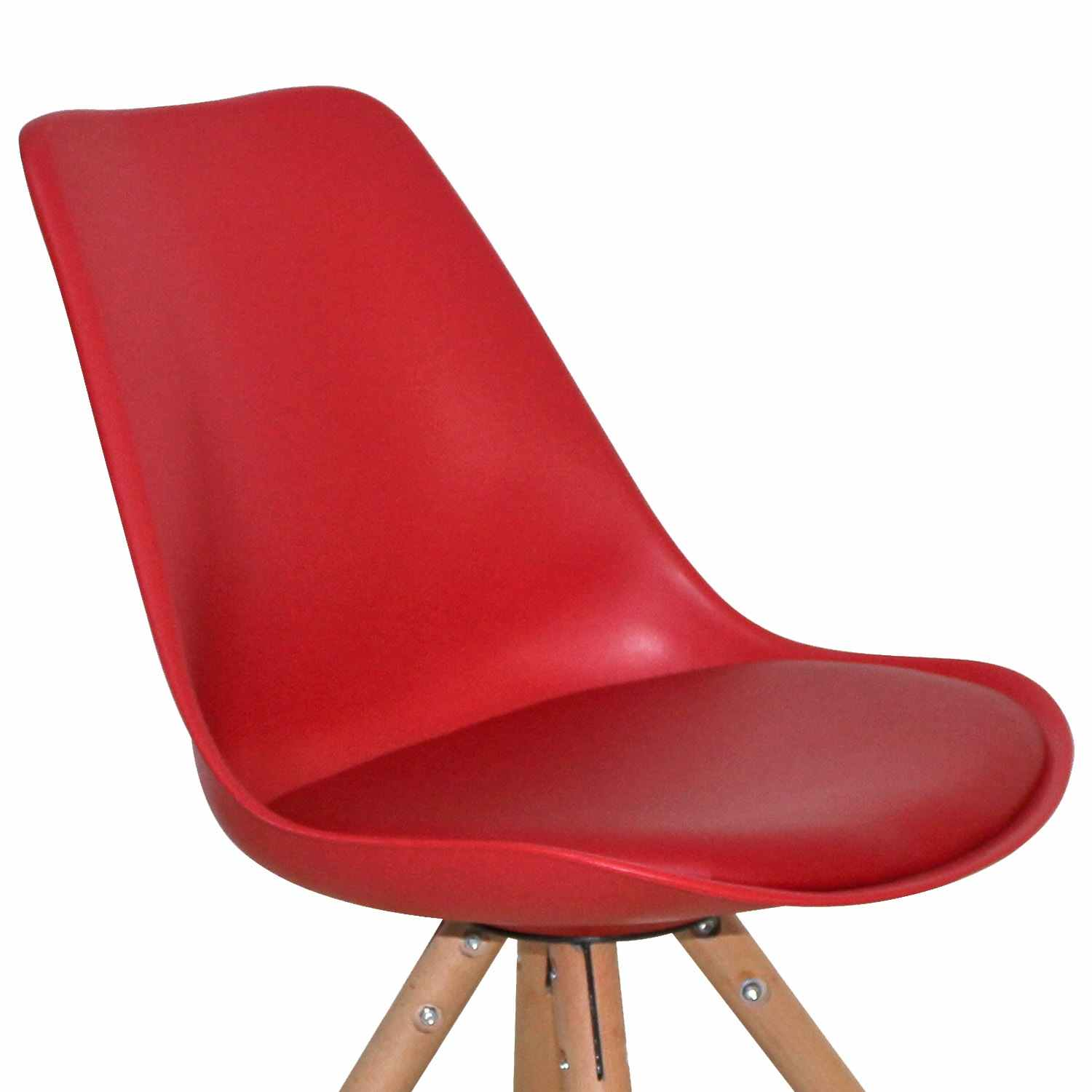 Lot de 2 chaises design rouge VELTA