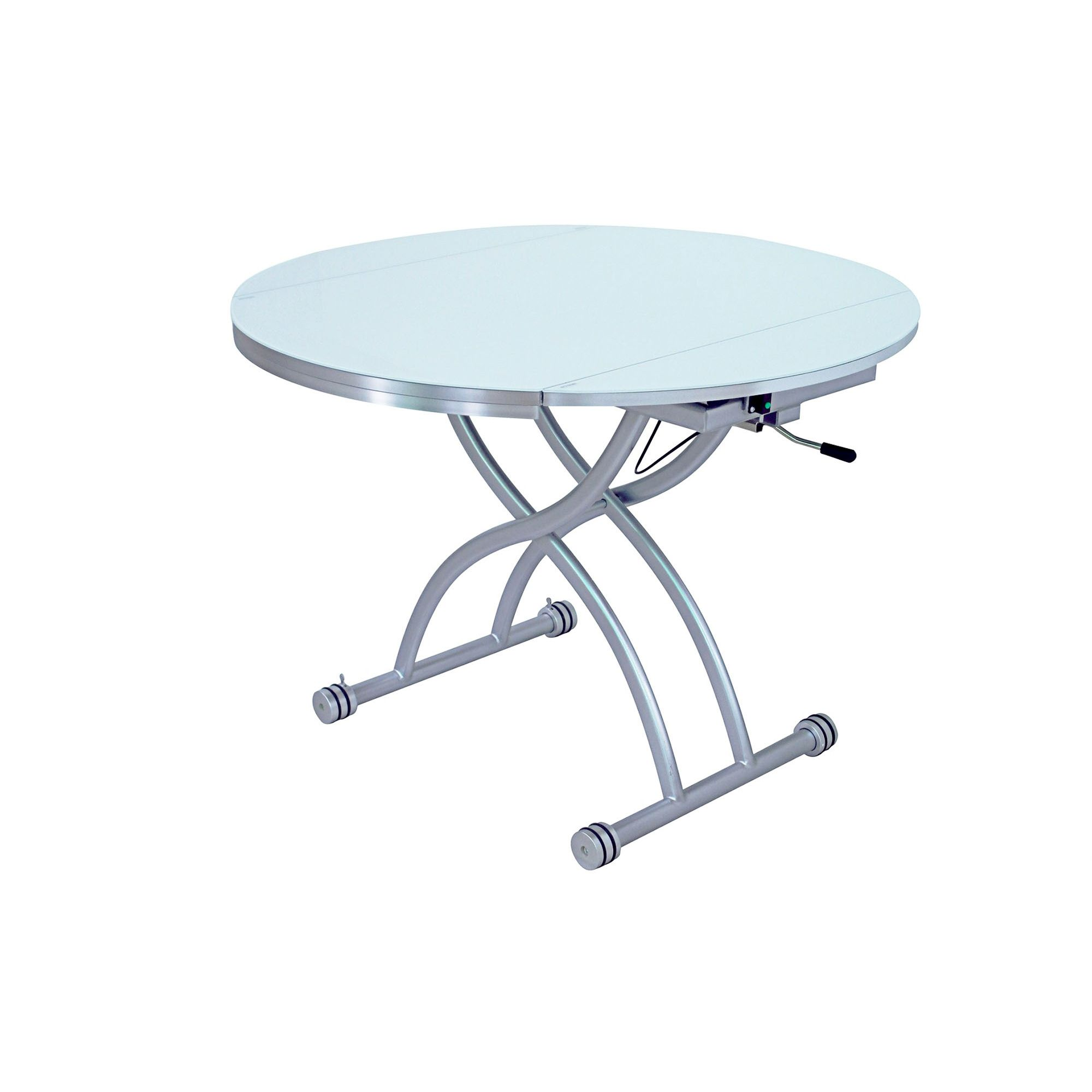 Deco in paris table basse ronde relevable extensible for Table basse relevable extensible but
