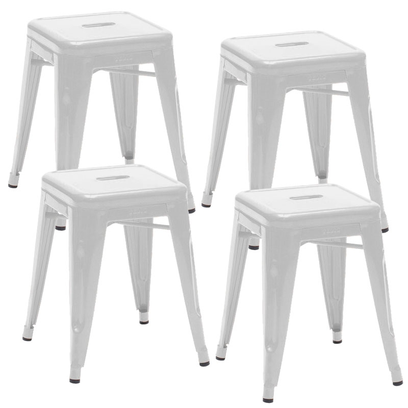 deco in paris tabouret bas en metal blanc laque perfect lot de 4 tabouret x4 fer perfect blanc. Black Bedroom Furniture Sets. Home Design Ideas