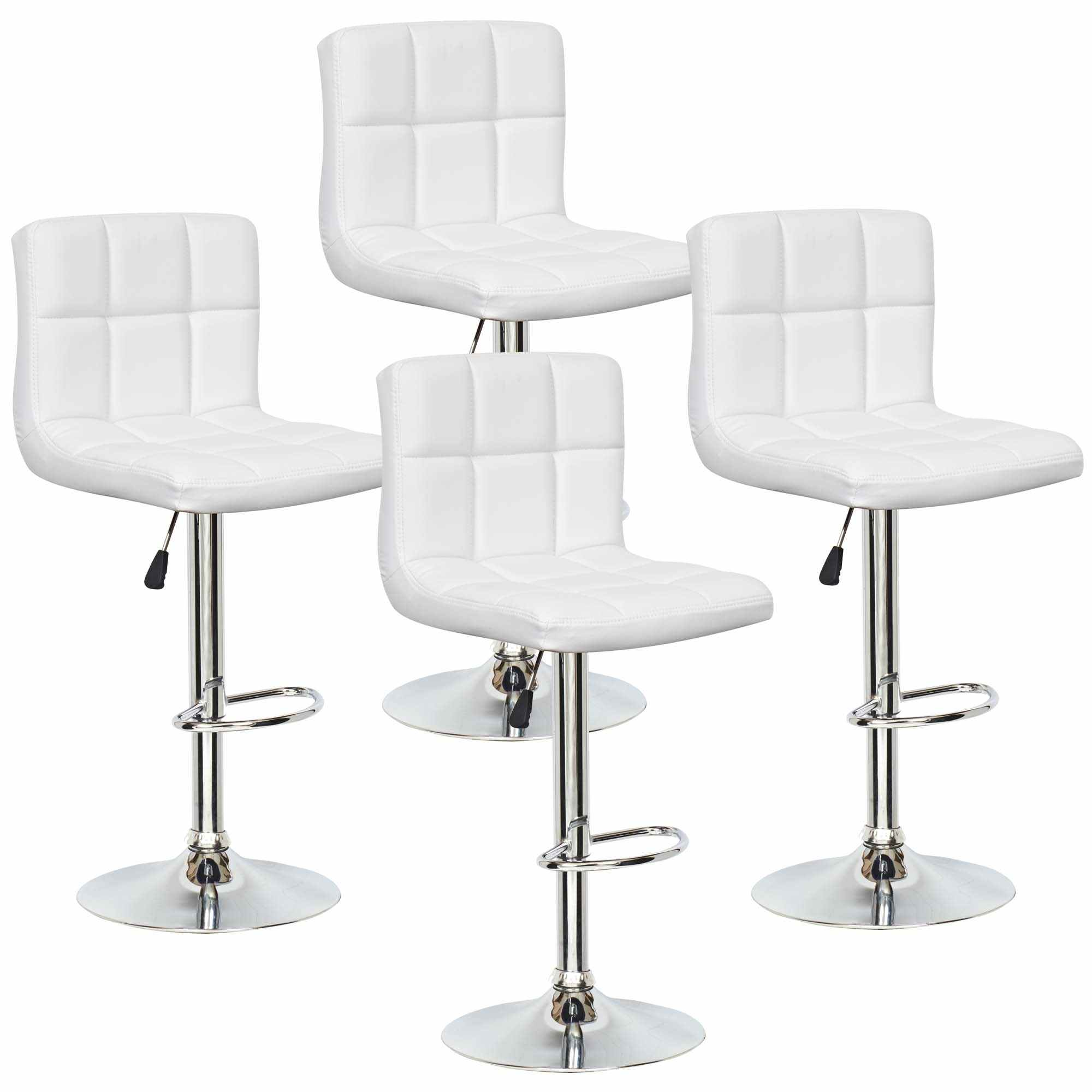 deco in paris lot de 4 tabourets de bar blanc scalo. Black Bedroom Furniture Sets. Home Design Ideas