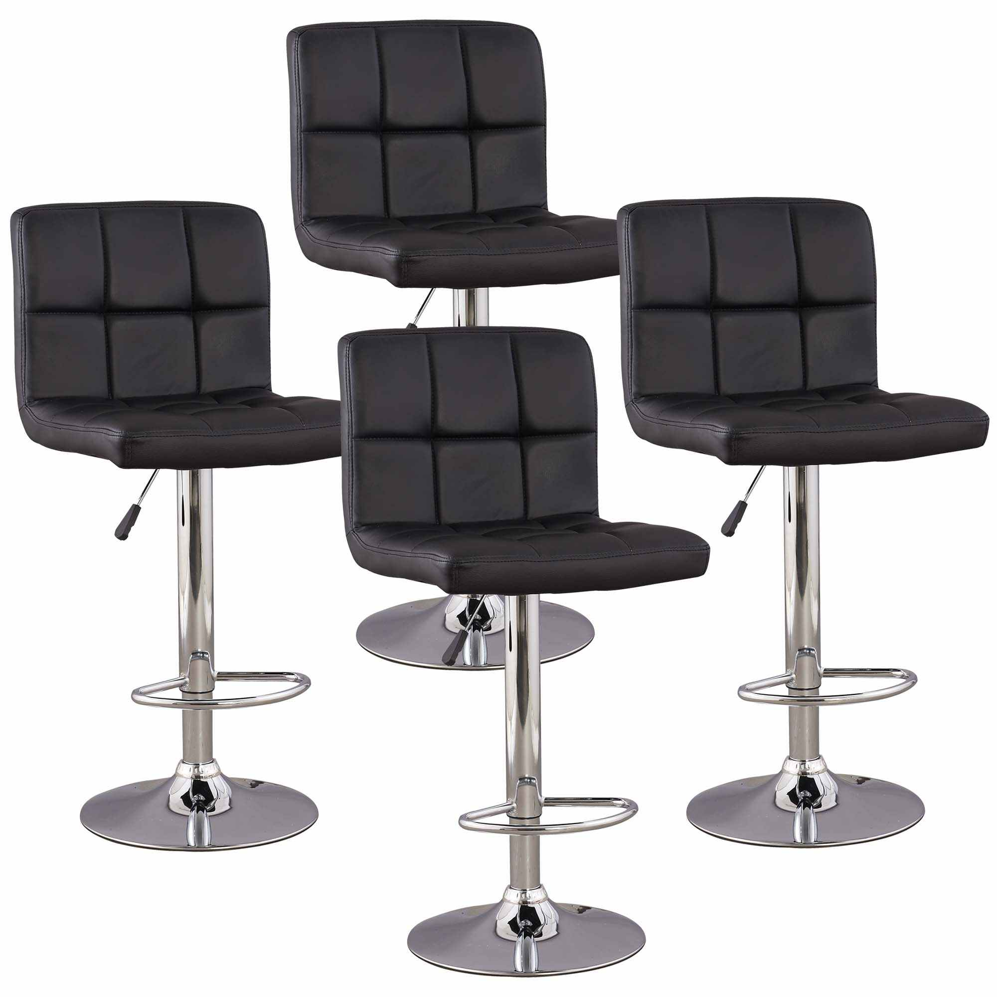 deco in paris lot de 4 tabourets de bar noir scalo scalo tab noir 4. Black Bedroom Furniture Sets. Home Design Ideas