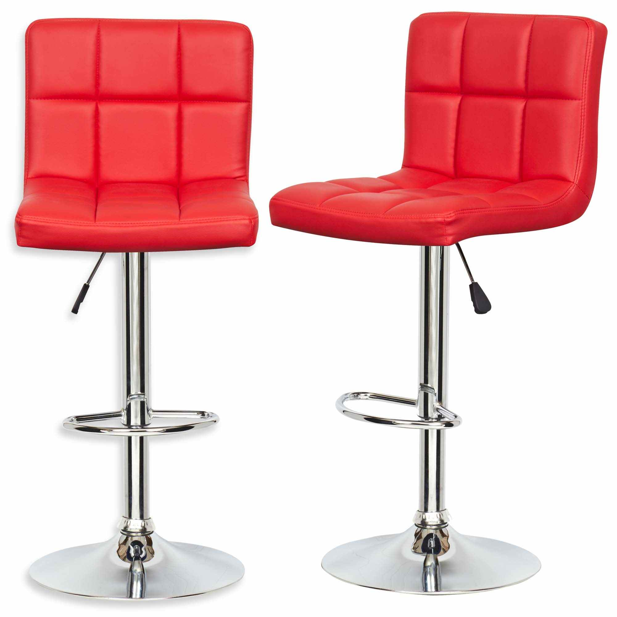 deco in paris lot de 2 tabourets de bar rouge scalo scalo rouge x2 tab. Black Bedroom Furniture Sets. Home Design Ideas