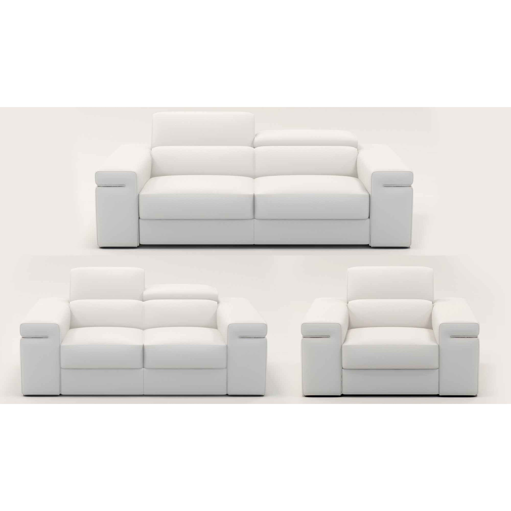 deco in 2 ensemble canape 3 2 1 places en cuir blanc can 3 2 1 blanc