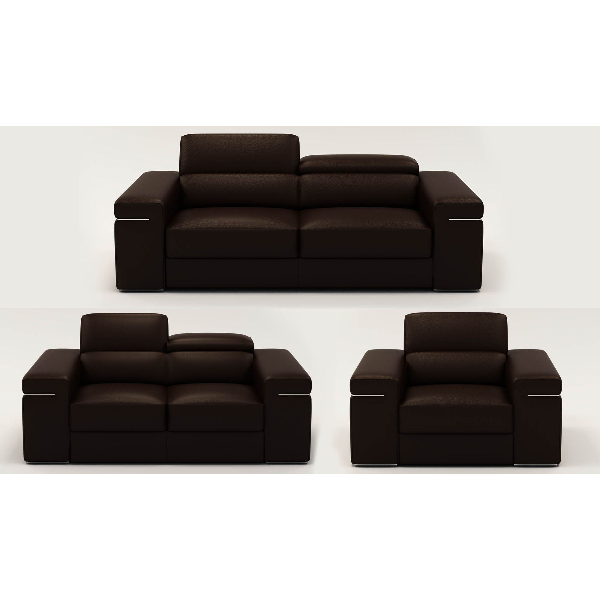 deco in 3 ensemble canape 3 2 1 places en cuir marron can 3 2 1 marron