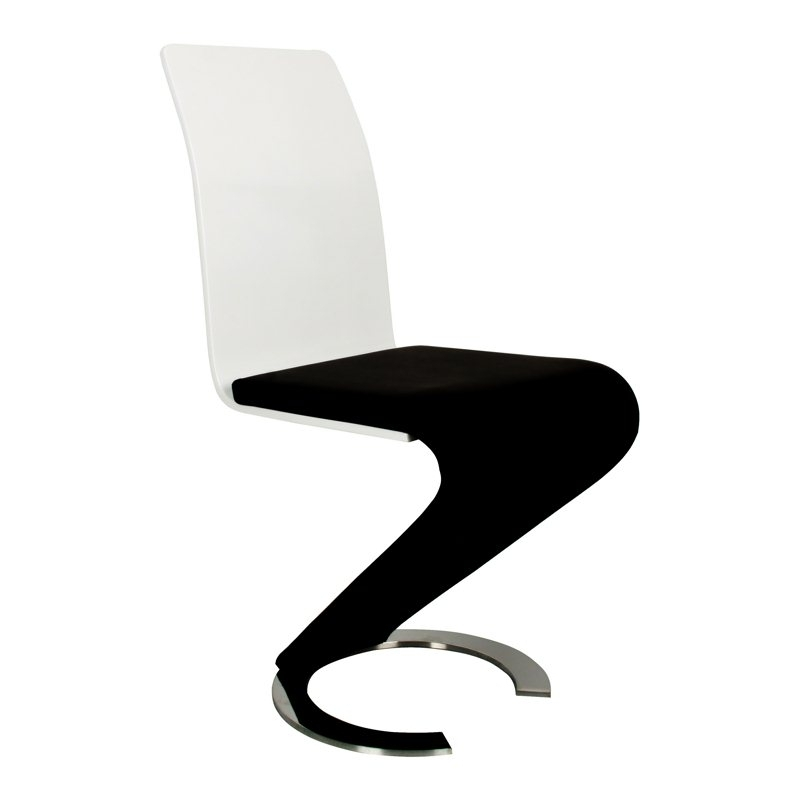 Deco in paris 2 table oamaru 4 chaises design noir et blanc oamaru 4ch - Chaise de salon noir ...